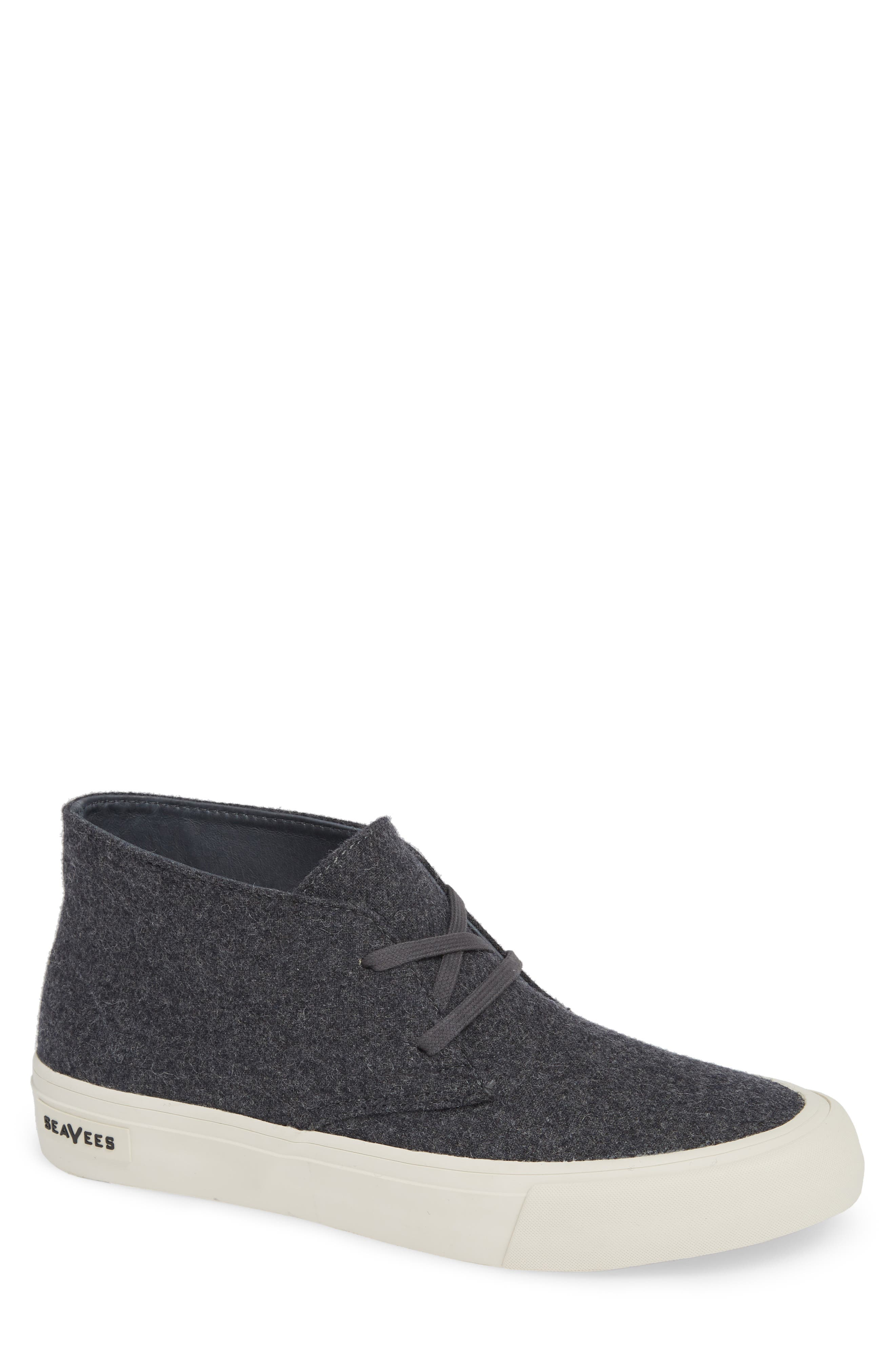 Maslon Chukka Sneaker,                             Main thumbnail 1, color,                             CHARCOAL WOOL FLANNEL