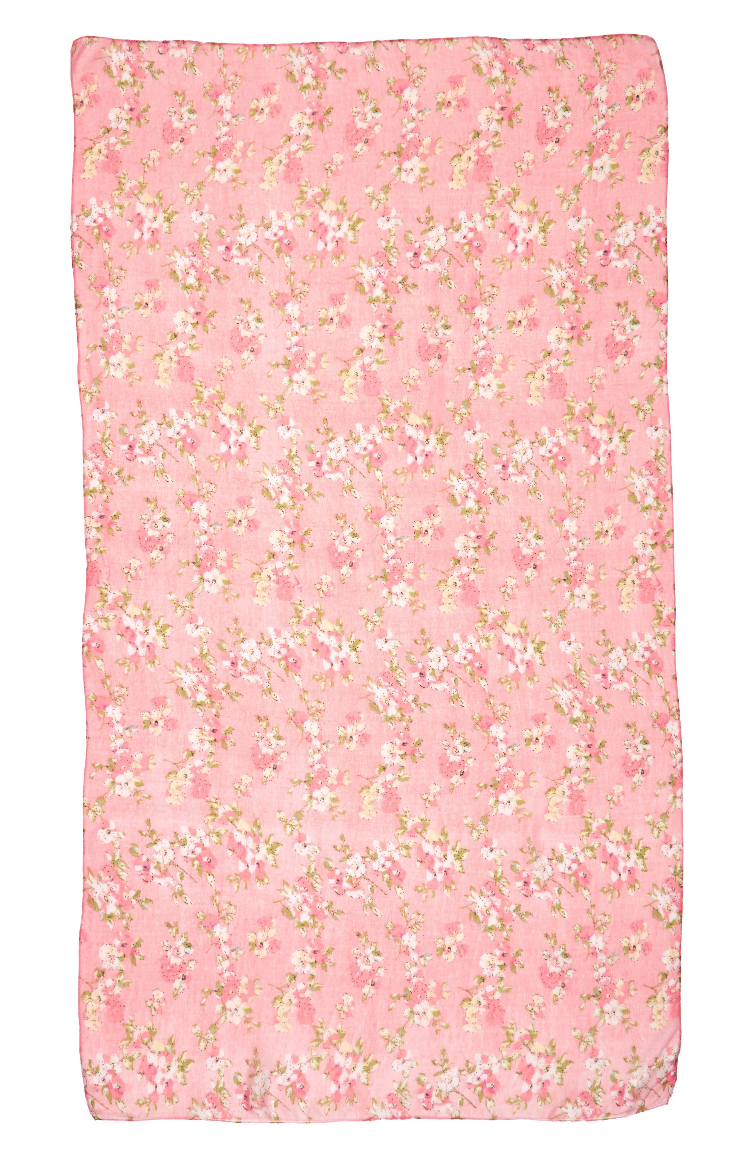 Accessory Collective Floral Cluster Oblong Scarf,                             Alternate thumbnail 2, color,                             650