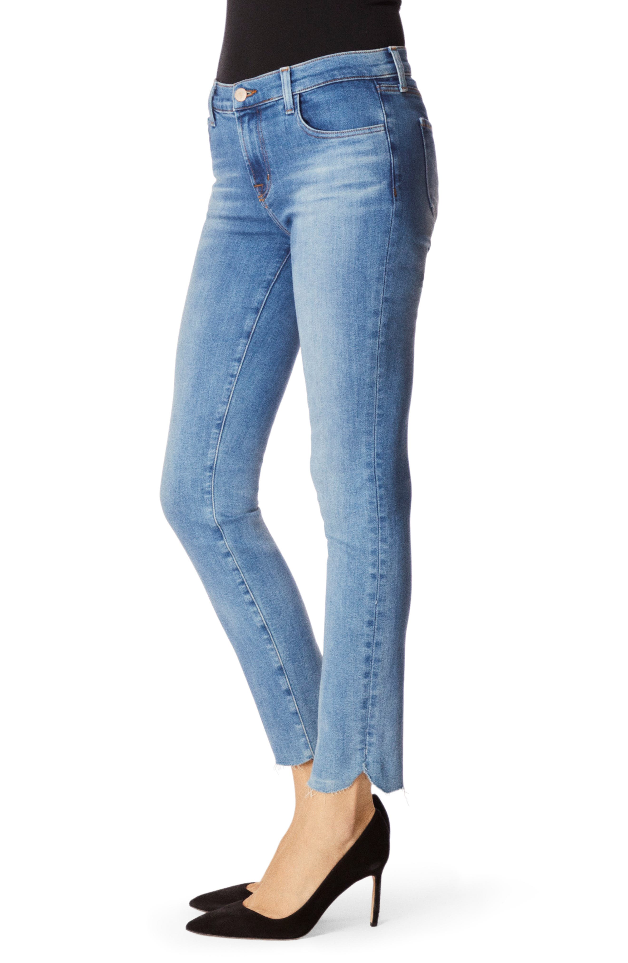 811 Raw Hem Ankle Skinny Jeans,                             Alternate thumbnail 3, color,                             RADIATE