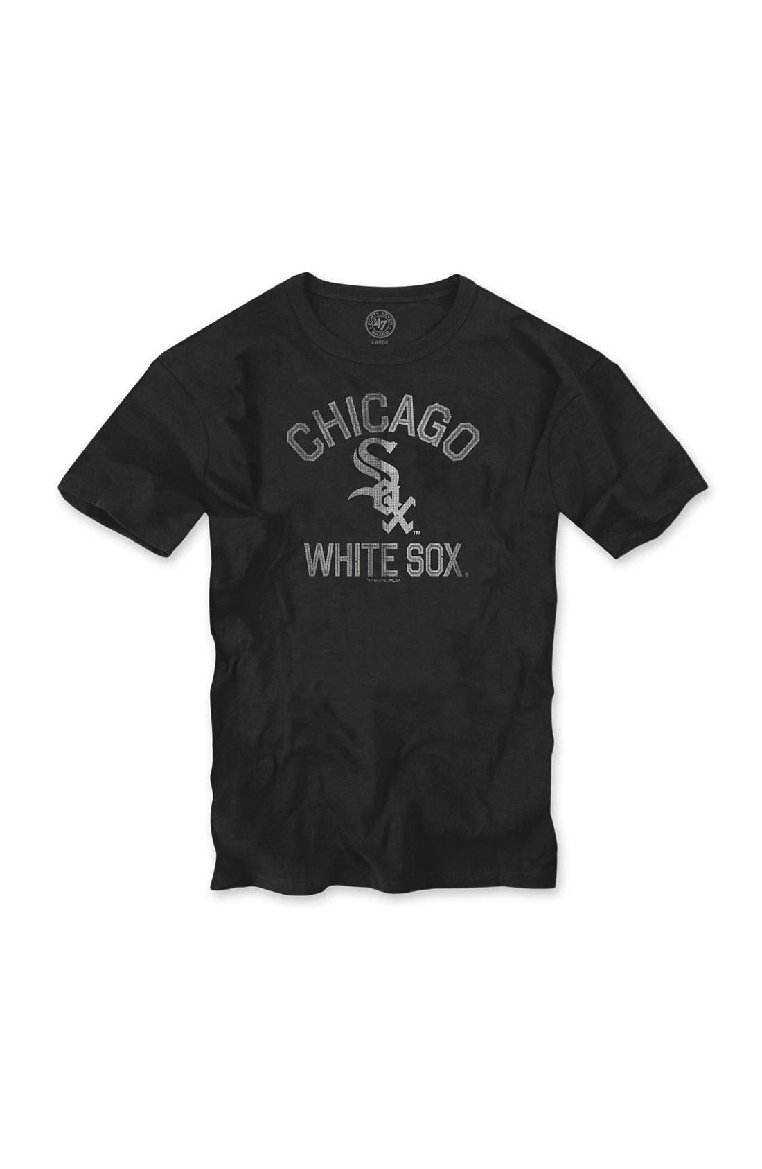 'Chicago Cubs' Regular Fit Crewneck T-Shirt,                             Main thumbnail 4, color,