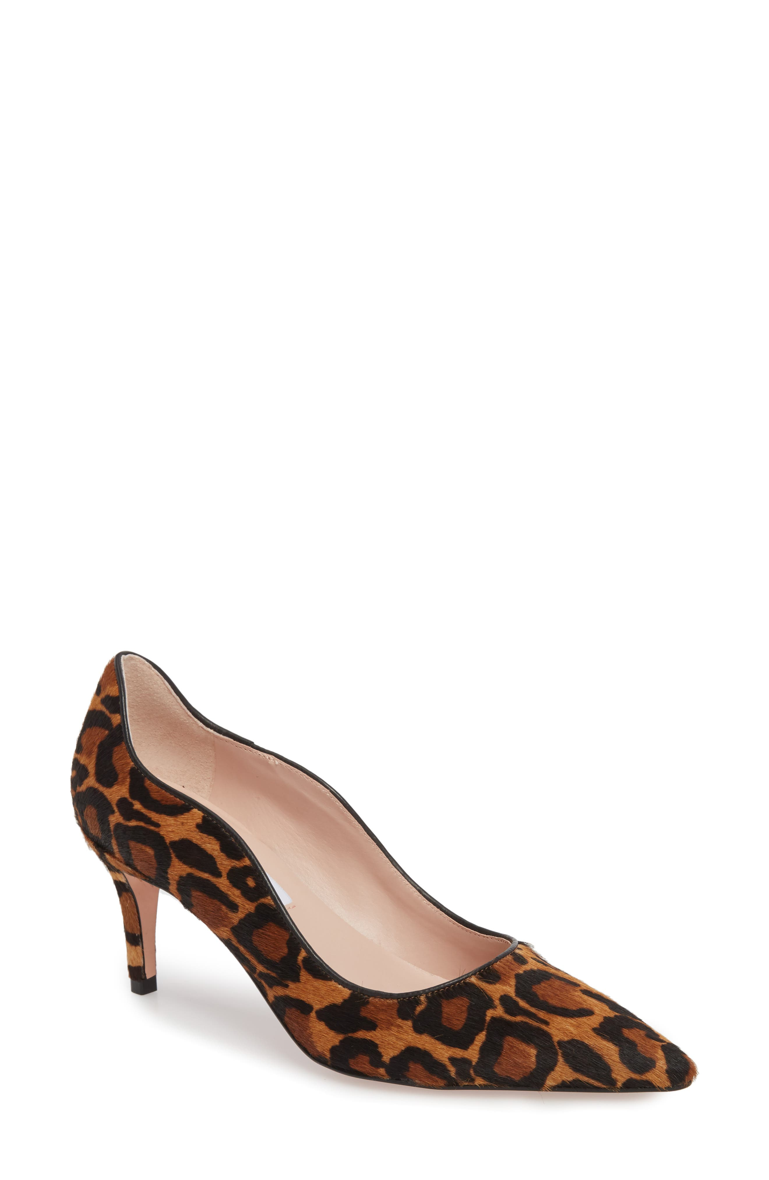 Anika 70 Pump,                         Main,                         color, CAMEL MULTI HAIR CALF