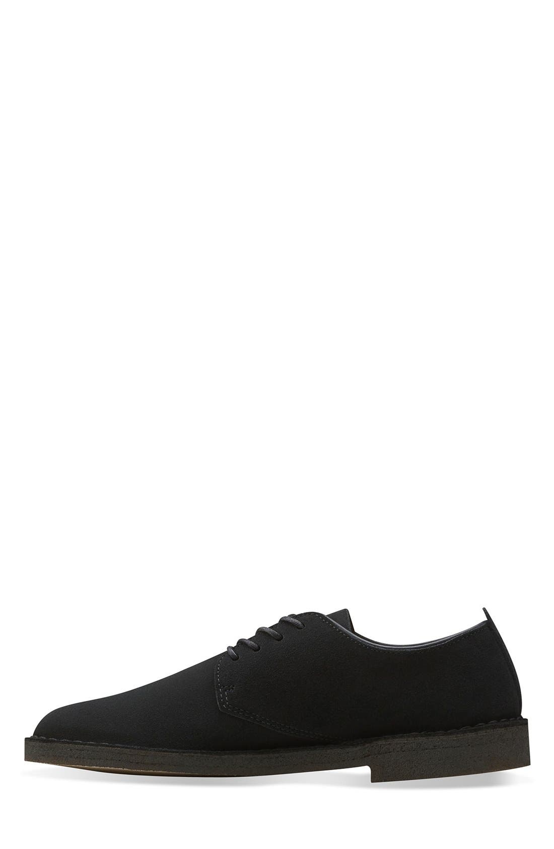 'Desert London' Plain Toe Derby,                             Alternate thumbnail 2, color,                             BLACK SUEDE