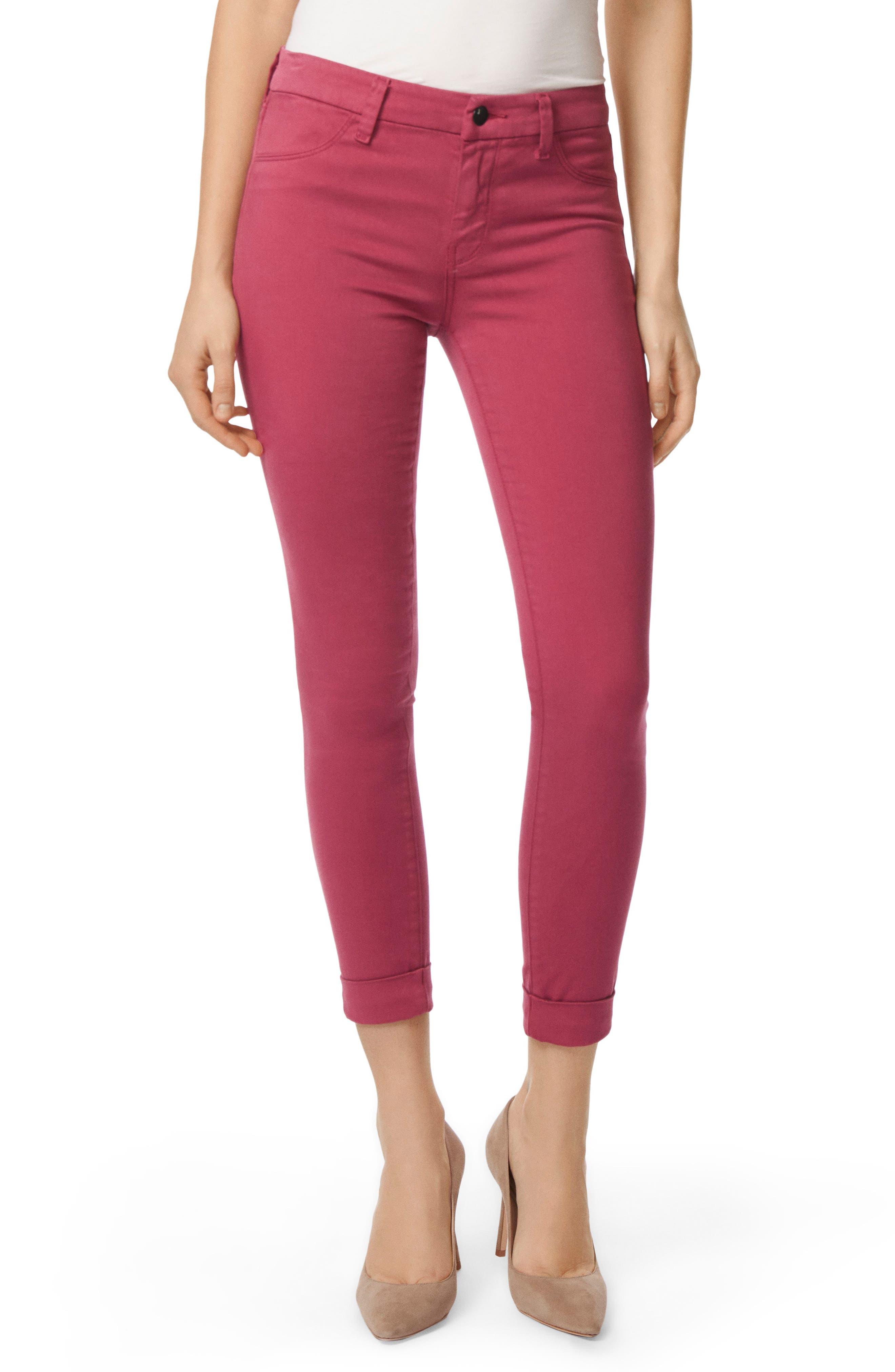 Anja Cuff Crop Jeans,                             Main thumbnail 1, color,                             DEEP PLUM
