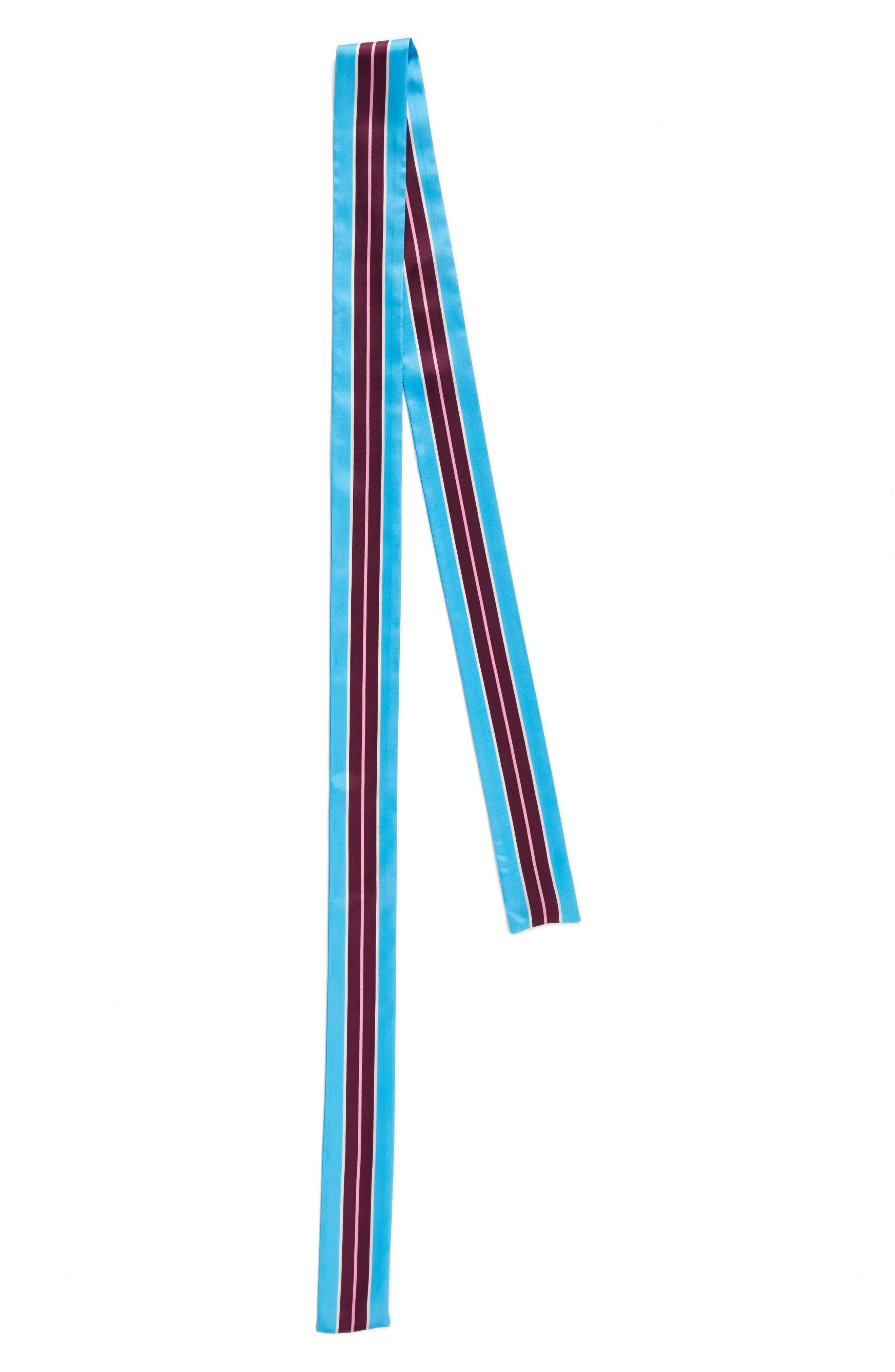 geo stripe medium skinny silk scarf,                             Alternate thumbnail 3, color,                             420