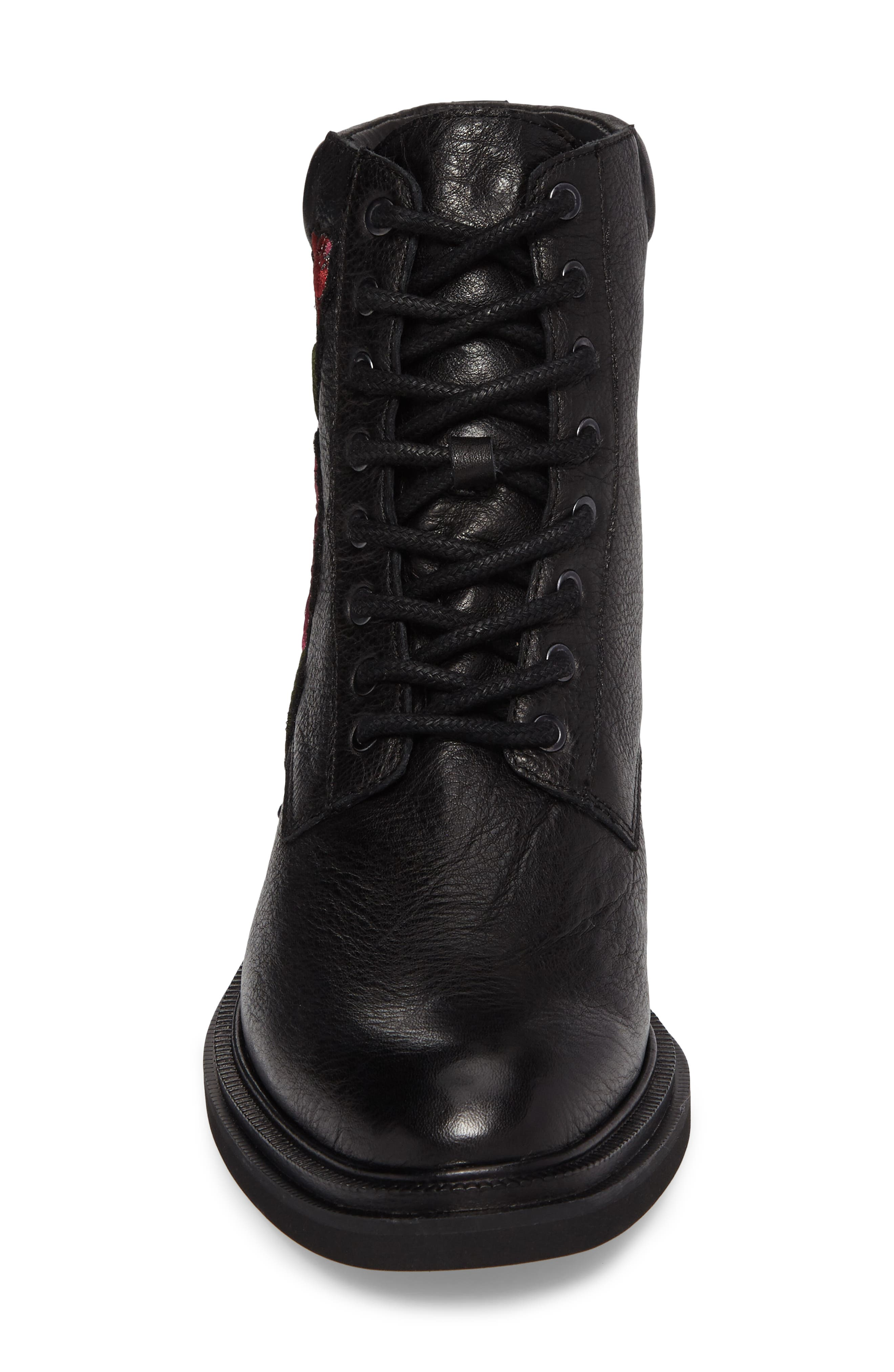 Ashton 2 Embroidered Boot,                             Alternate thumbnail 4, color,                             001