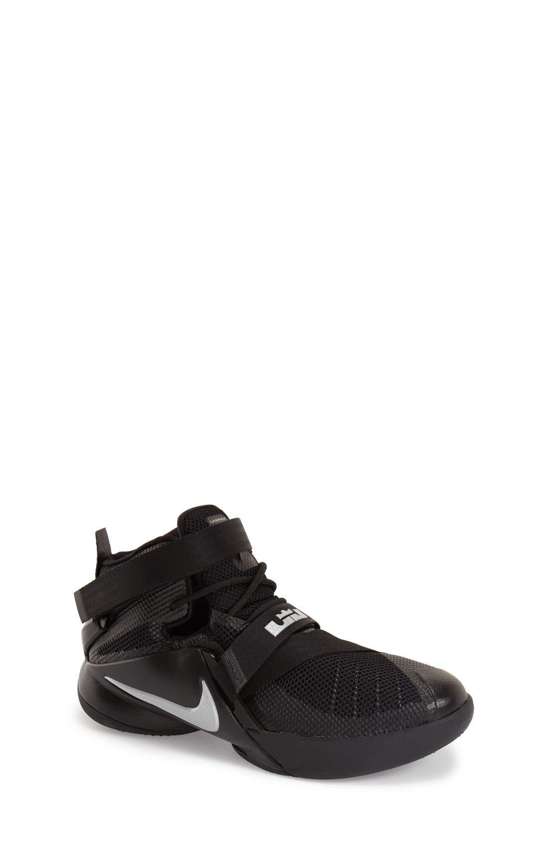 'LeBron Soldier 9' Basketball Shoe,                             Main thumbnail 1, color,                             001