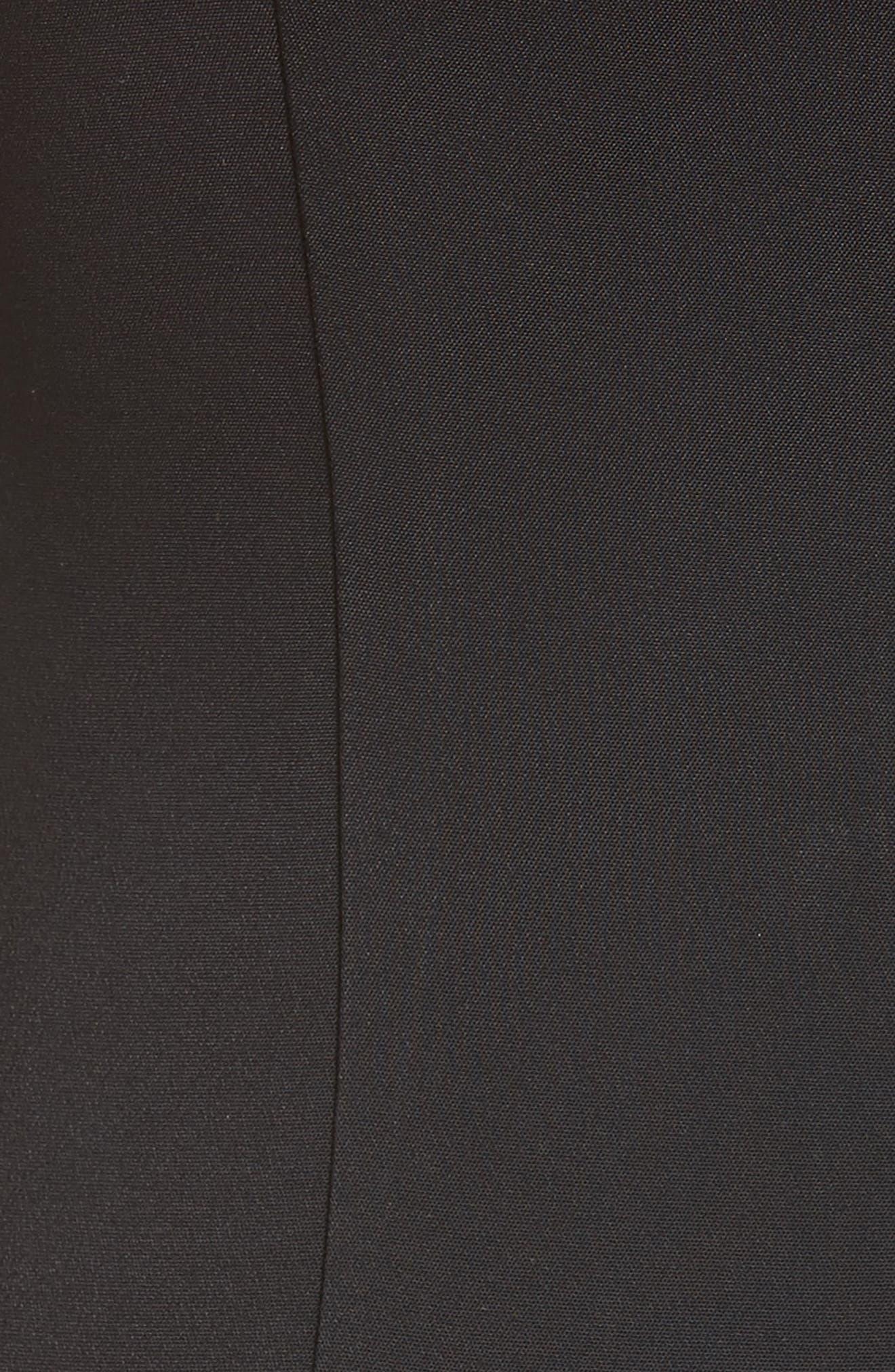 Strappy Pencil Dress,                             Alternate thumbnail 5, color,                             001