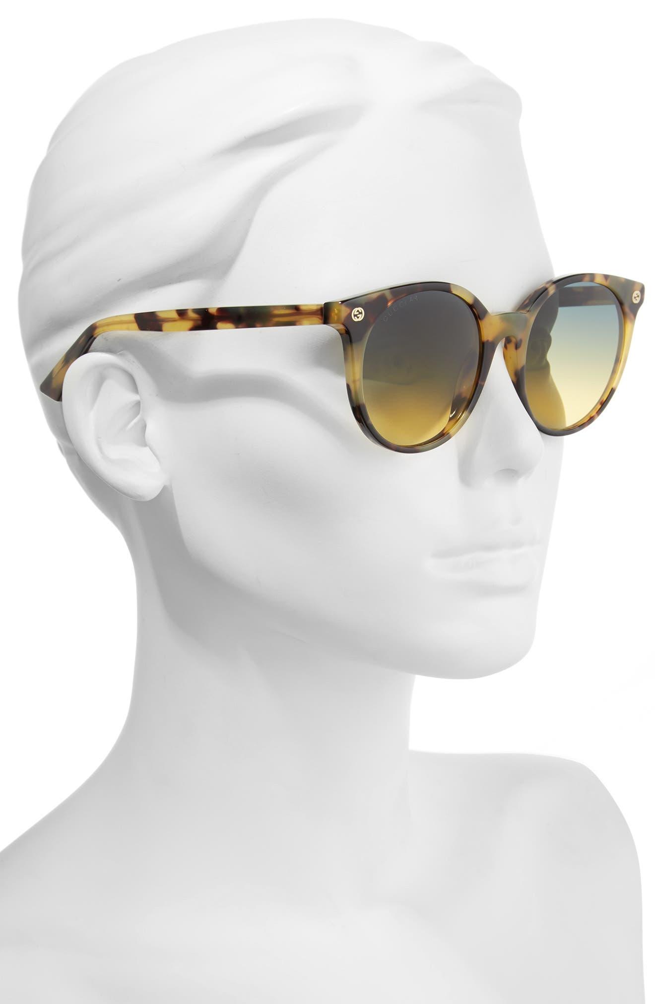 52mm Round Sunglasses,                             Alternate thumbnail 8, color,