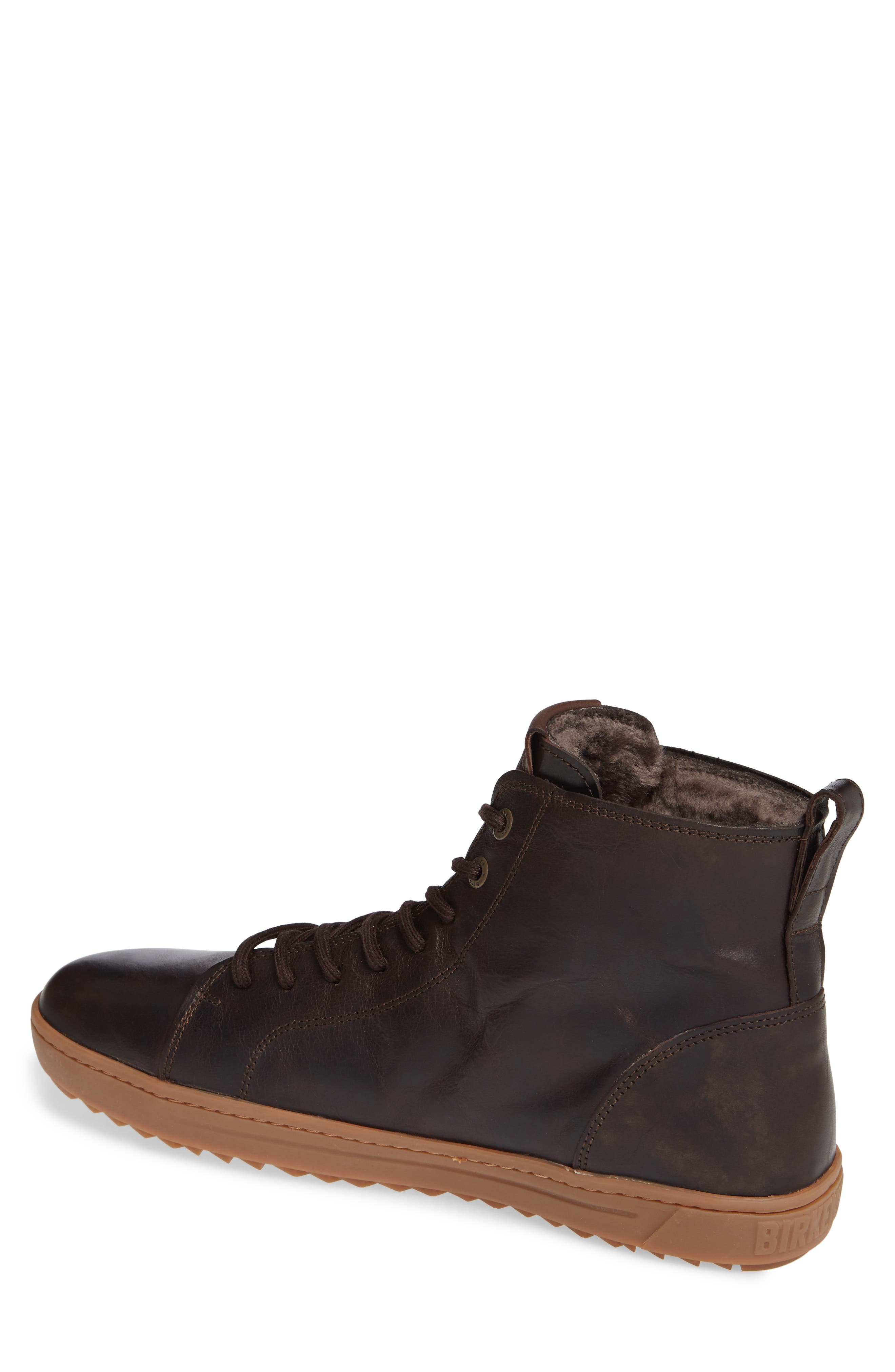 Barlett Genuine Shearling Sneaker,                             Alternate thumbnail 2, color,                             BROWN