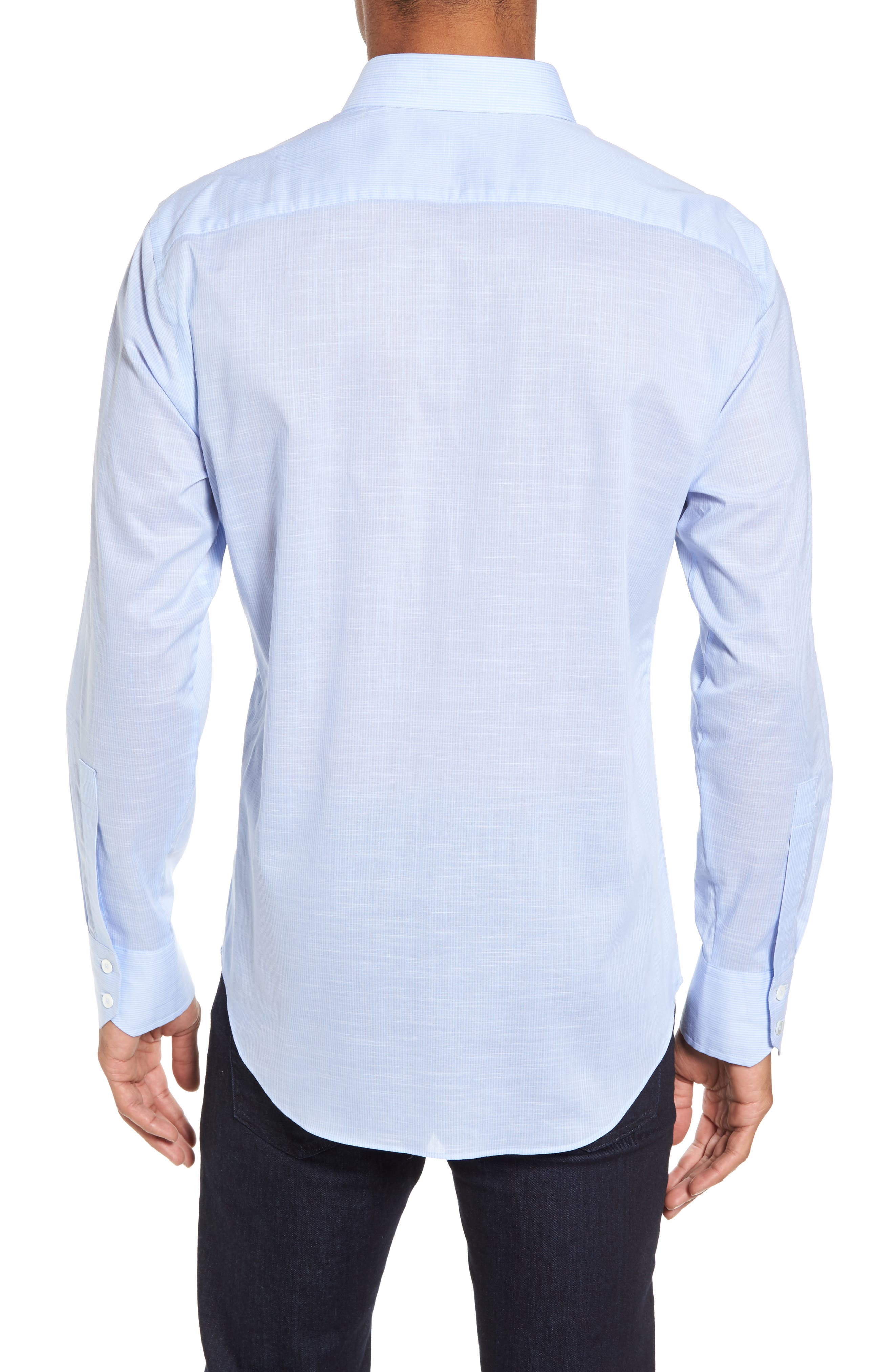 Ridley Slim Fit Texture Sport Shirt,                             Alternate thumbnail 2, color,