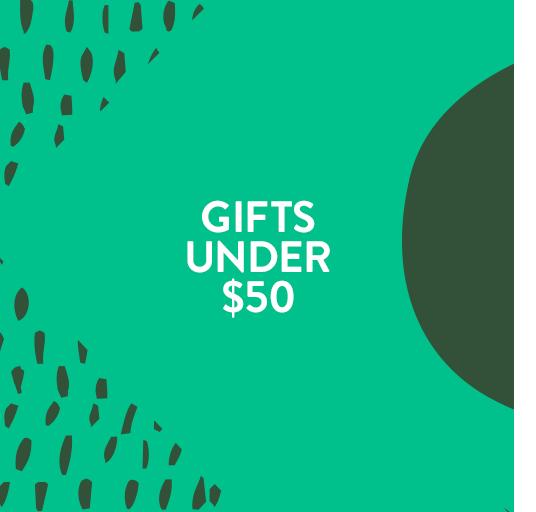Gifts under $50.