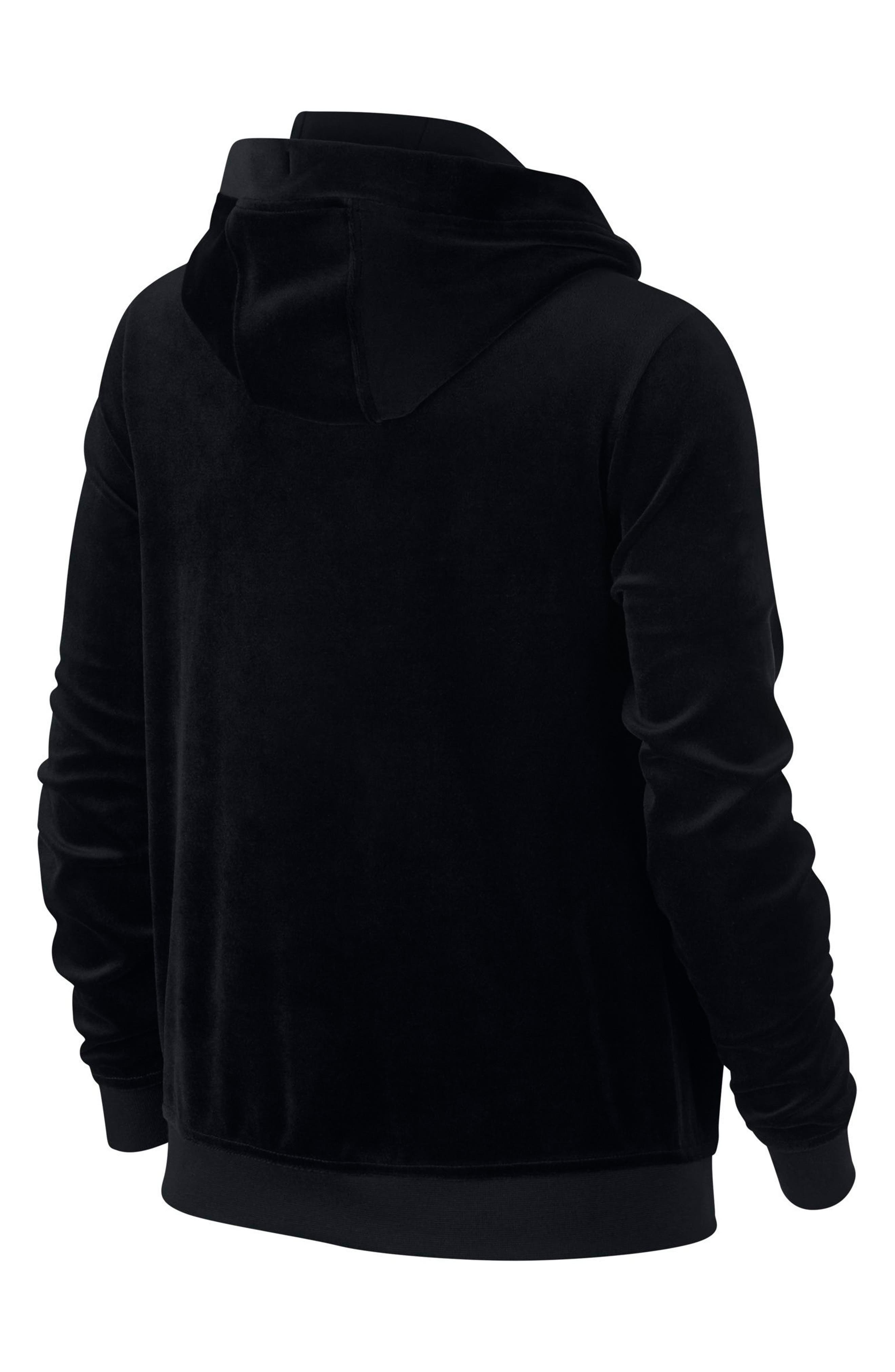 NIKE,                             Sportswear Velour Pullover Hoodie,                             Alternate thumbnail 2, color,                             010