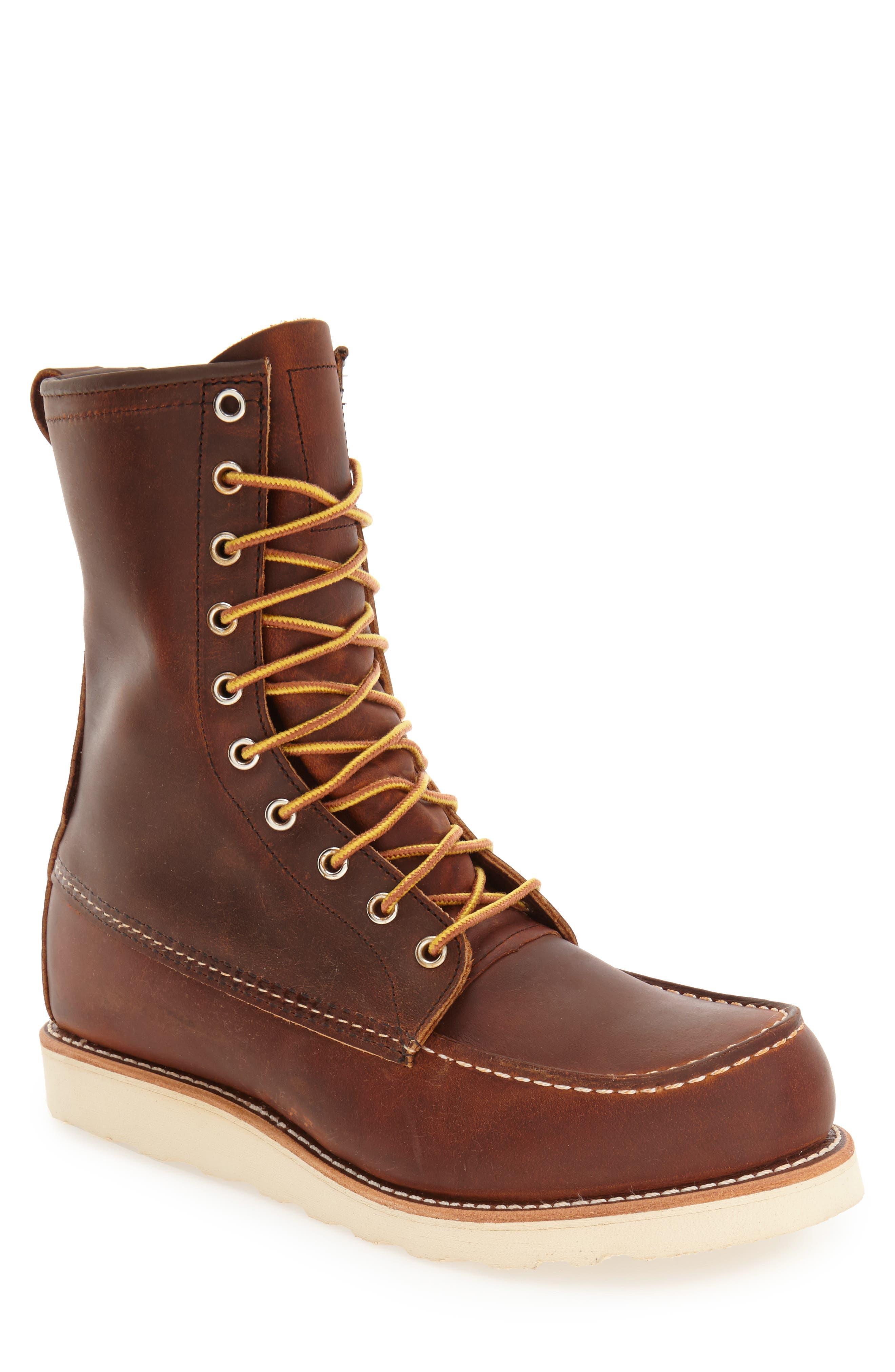 '877' Moc Toe Boot,                             Main thumbnail 1, color,                             COPPER LEATHER