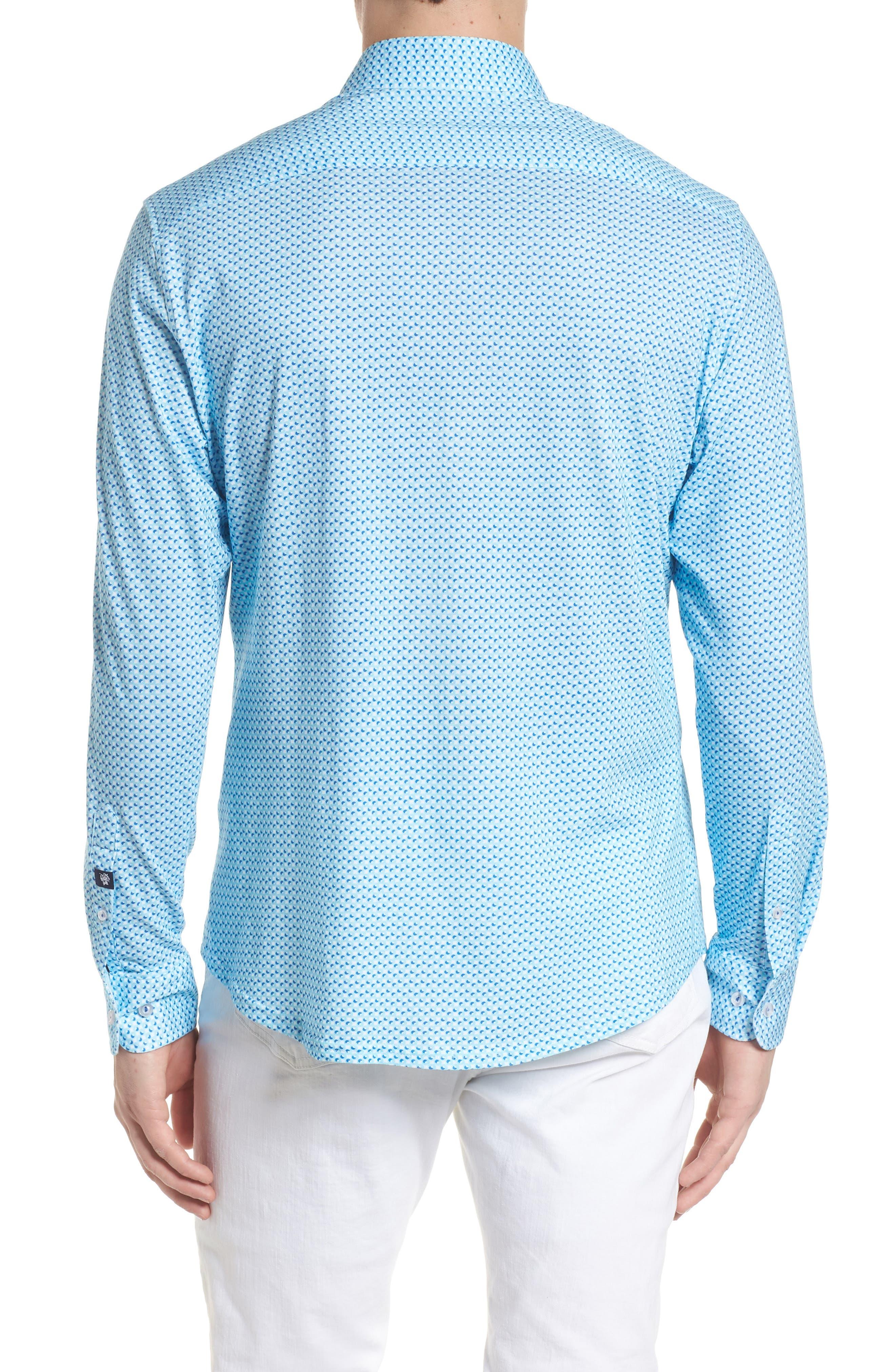 Contemporary Fit Circle Print Sport Shirt,                             Alternate thumbnail 2, color,                             400