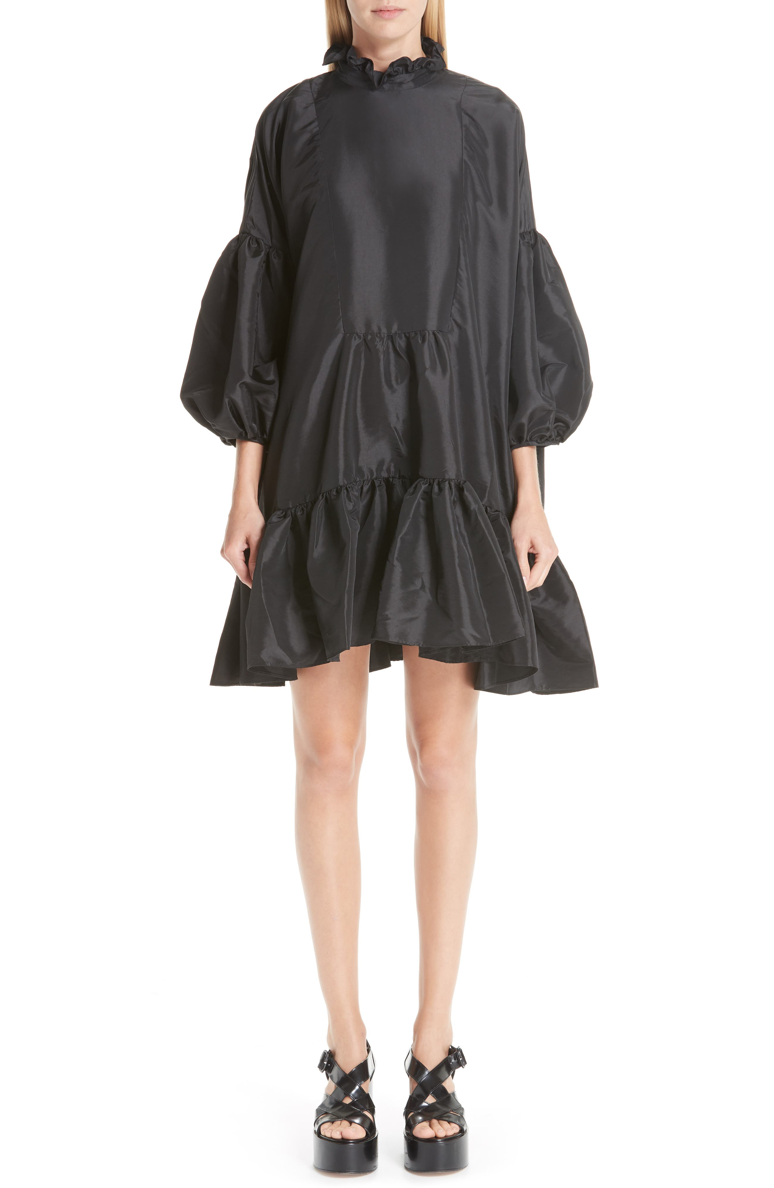 CECILIE BAHNSEN Belle Faille Dress in Black