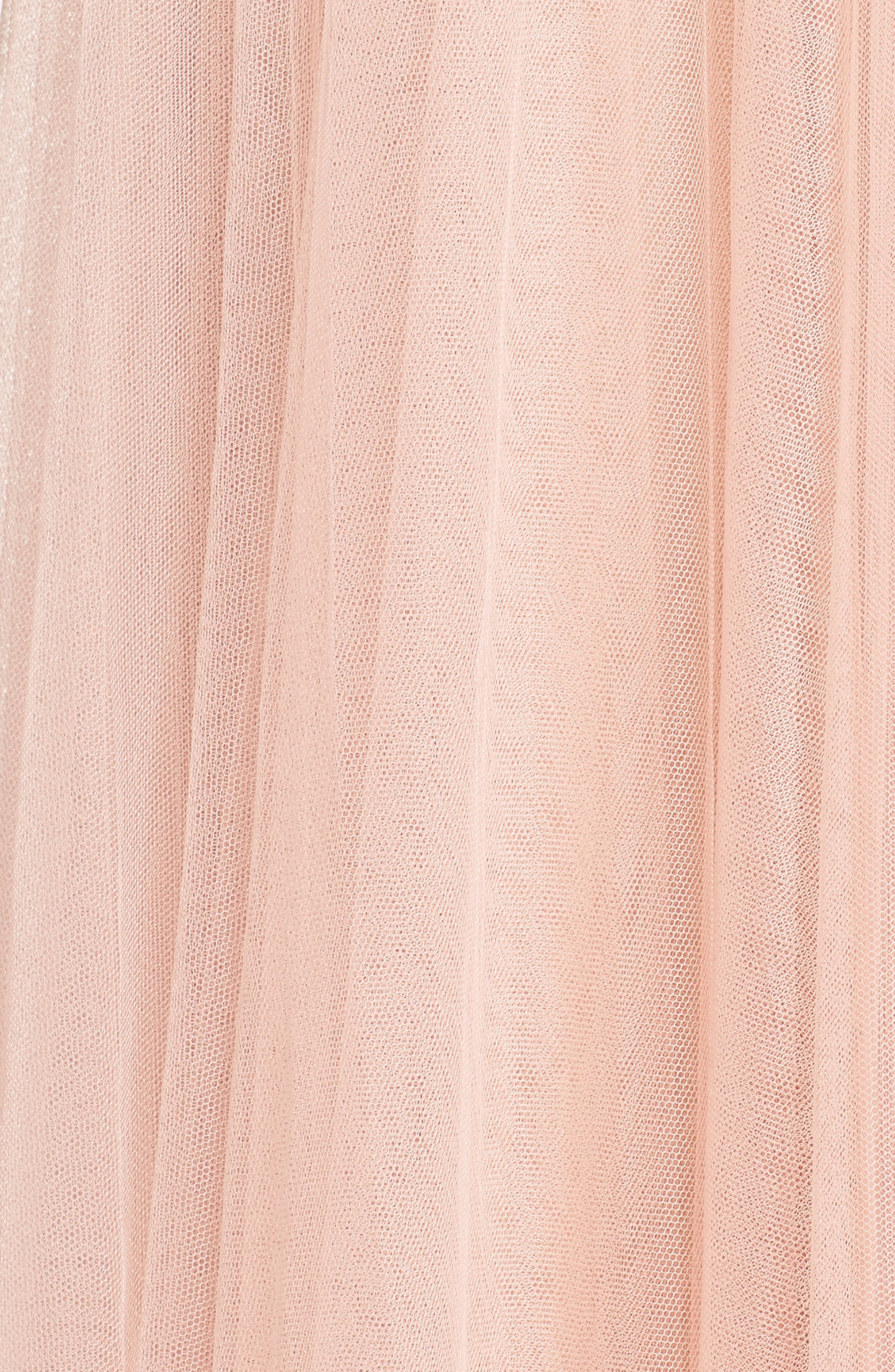 Winslow Long Tulle A-Line Skirt,                             Alternate thumbnail 6, color,                             CAMEO PINK