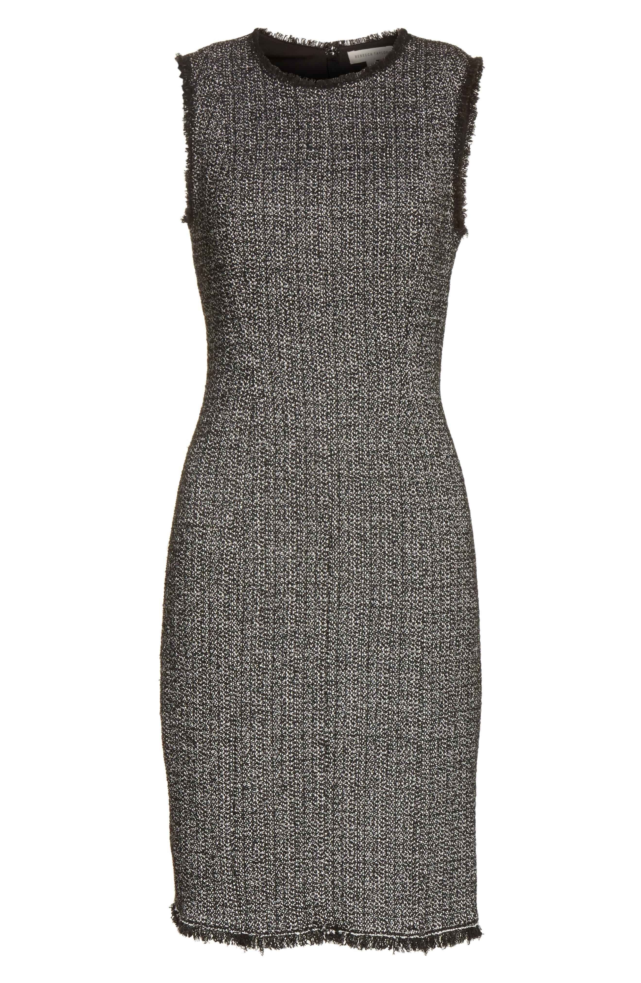 Tweed Sheath Dress,                             Alternate thumbnail 6, color,                             014