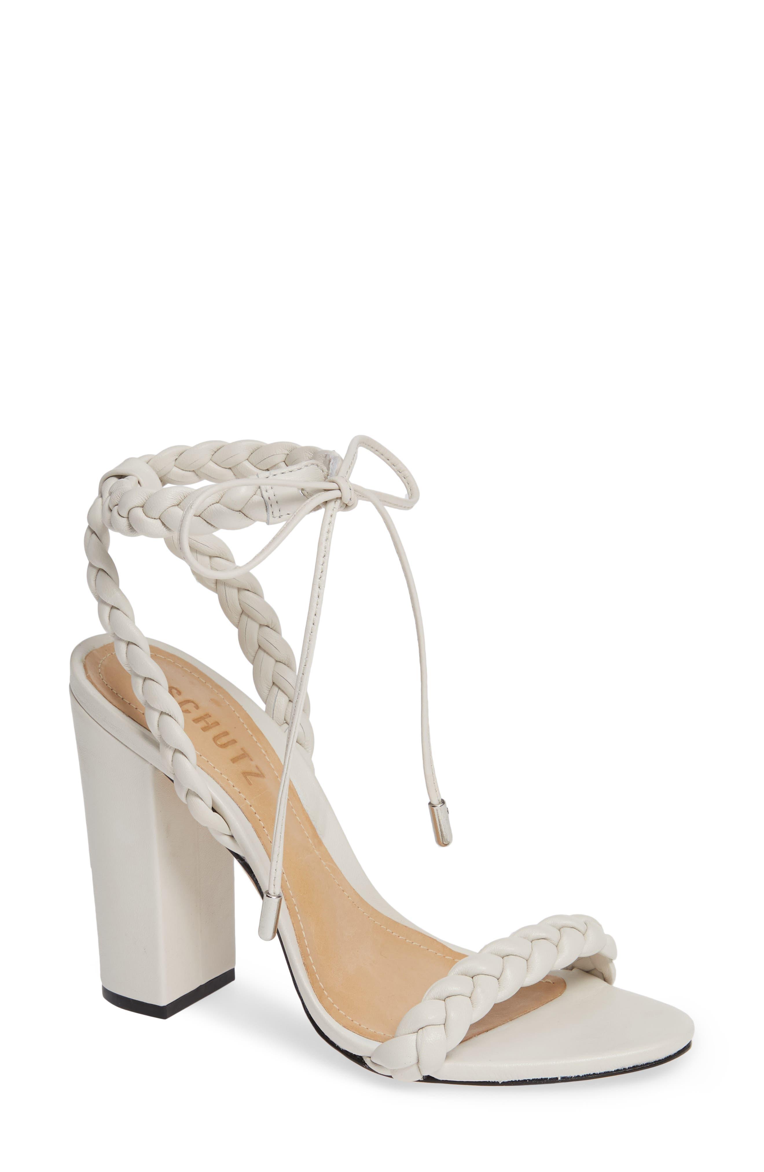 Lainna Braided Strap Sandal,                             Main thumbnail 1, color,                             PEARL