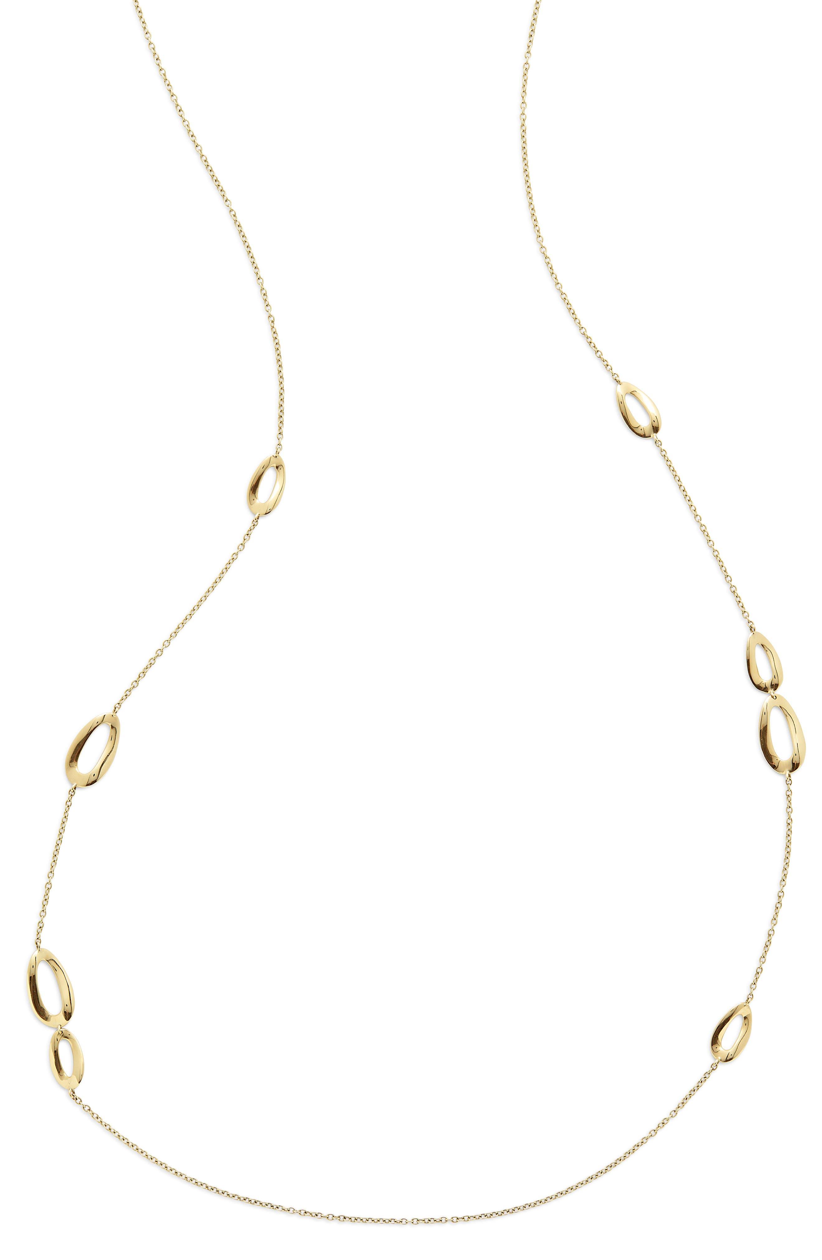 Cherish Bond 18K Gold Station Necklace,                         Main,                         color, YELLOW GOLD