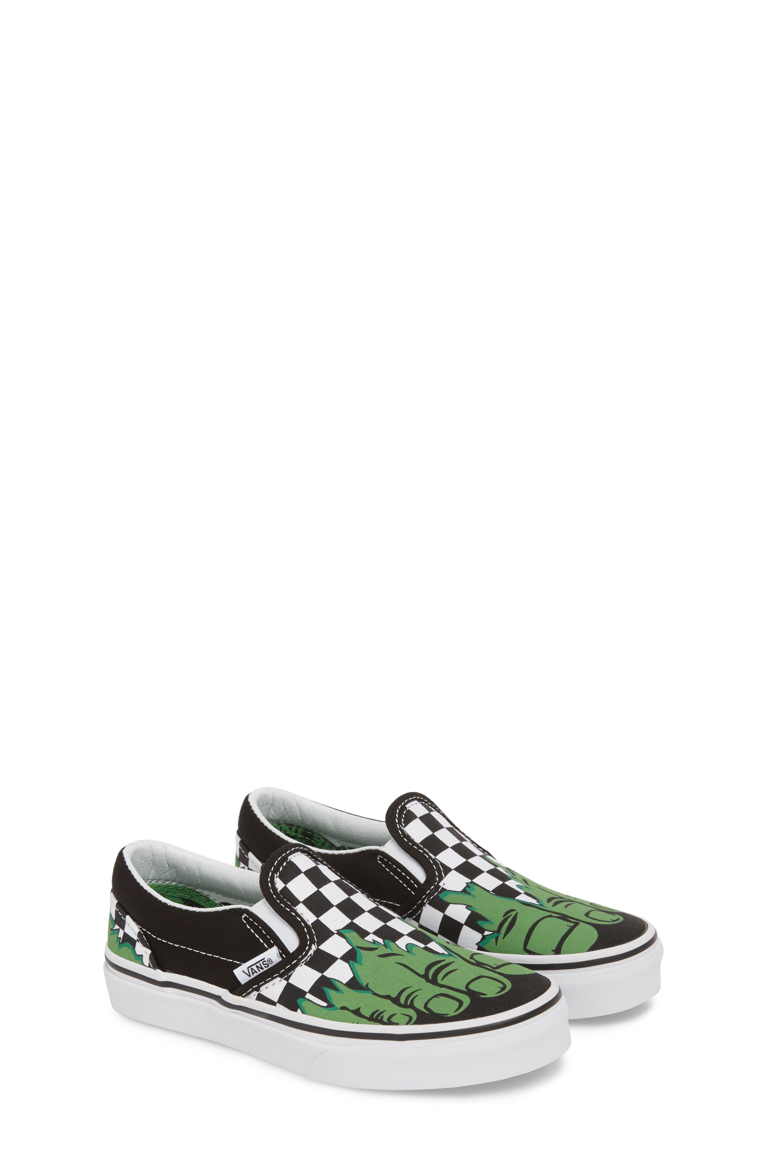 x Marvel<sup>®</sup> Hulk Checkerboard Slip-On Sneaker,                             Alternate thumbnail 2, color,                             310
