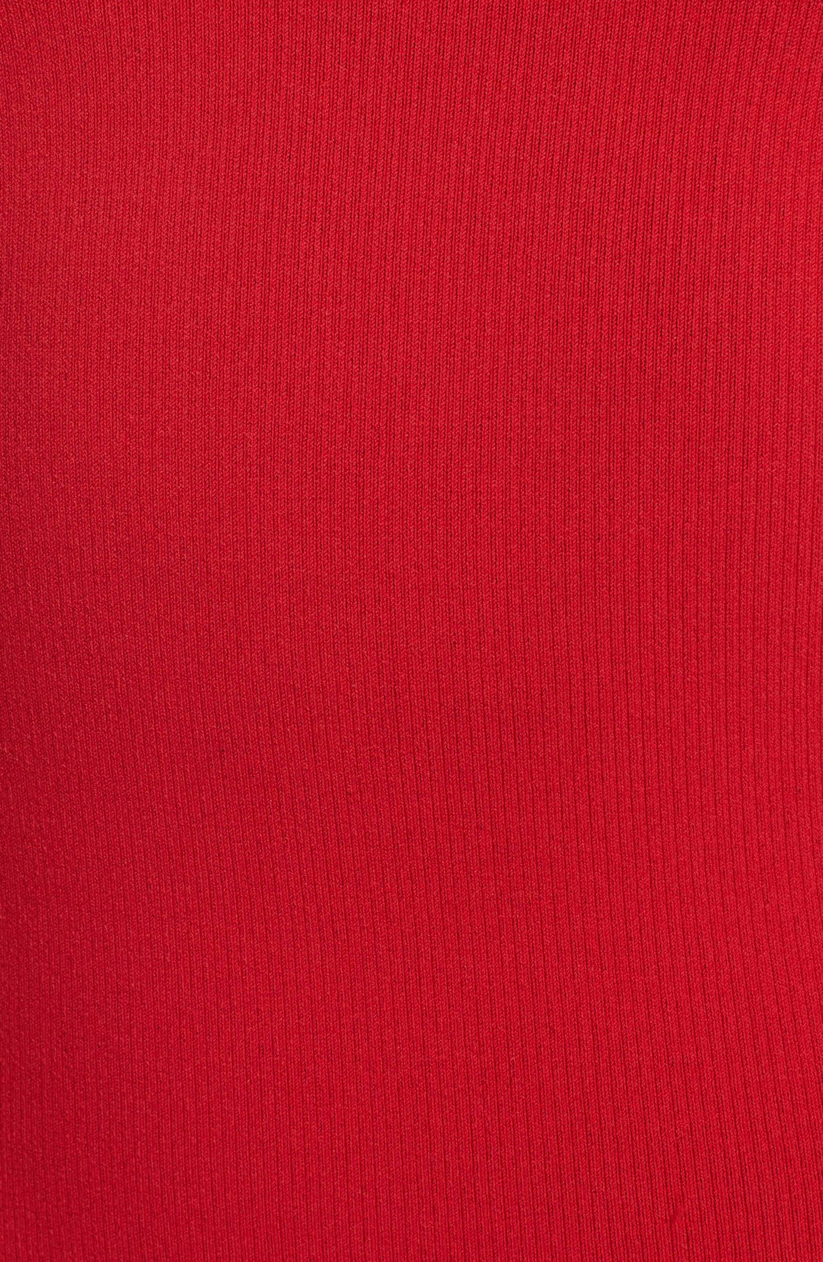 Logo Tape Ribbed Body-Con Dress,                             Alternate thumbnail 10, color,