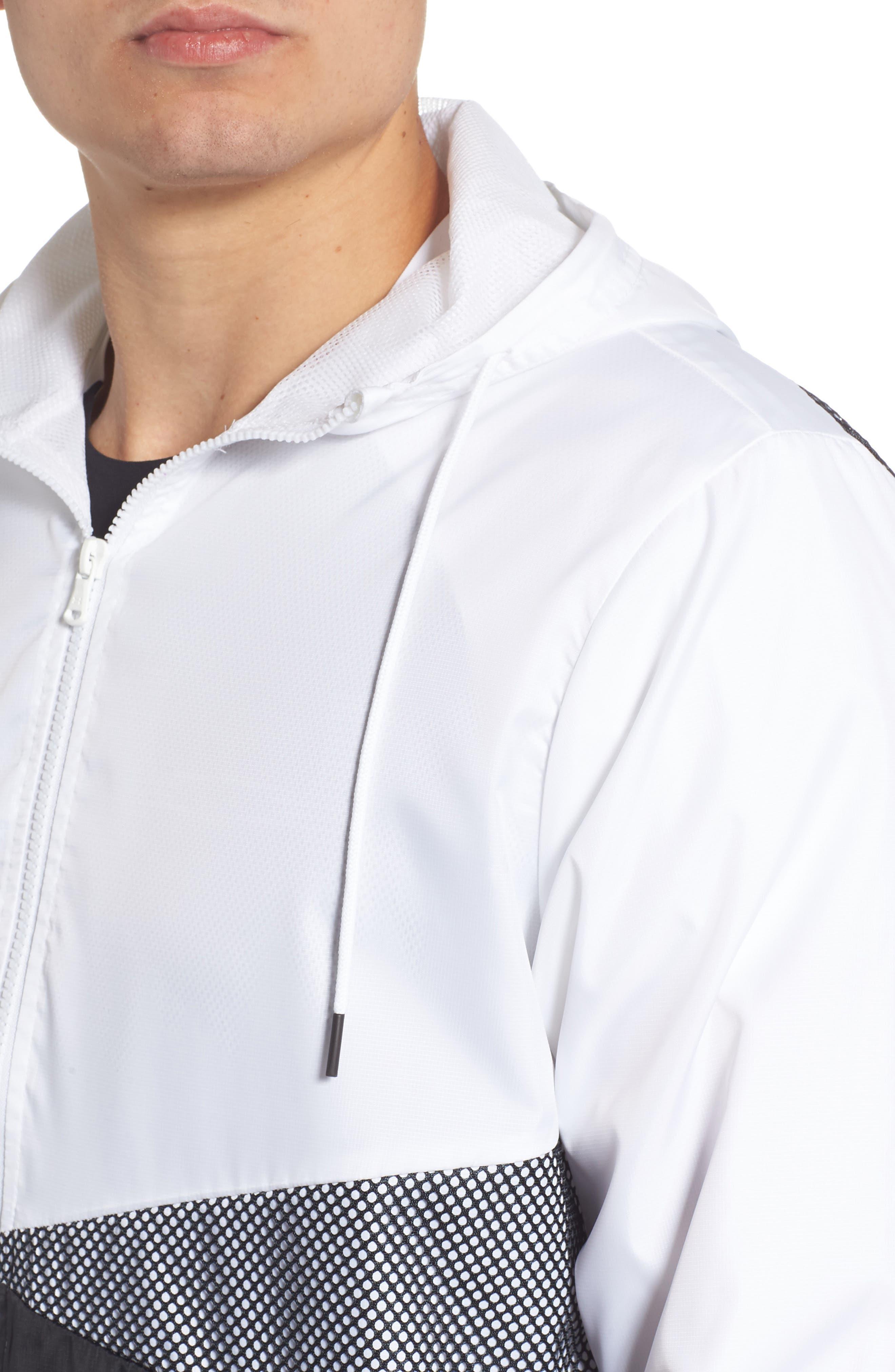 Sportstyle Regular Full Zip Jacket,                             Alternate thumbnail 4, color,                             WHITE
