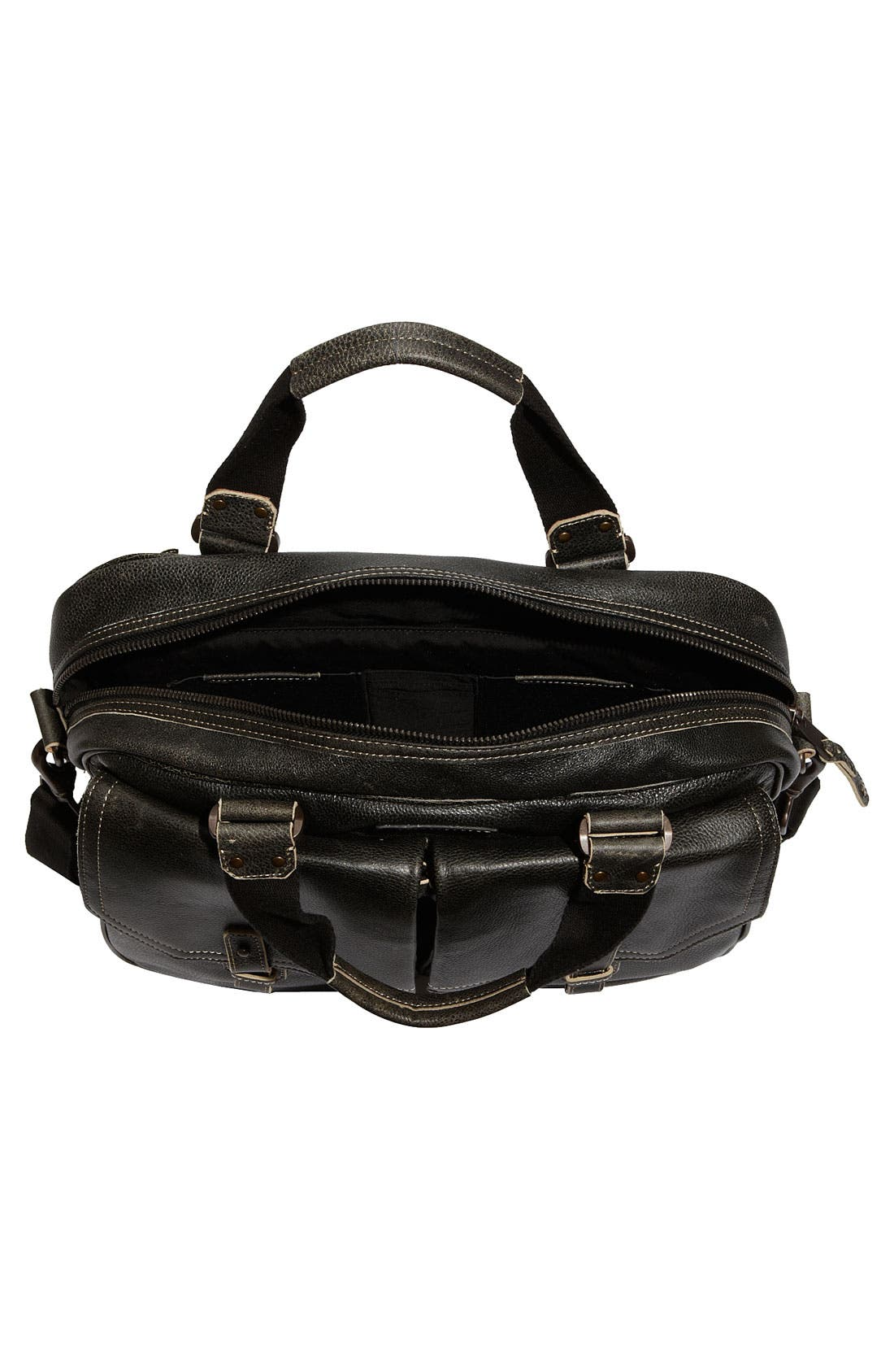 by Andrew Marc Accessories Leather Travel Bag,                             Alternate thumbnail 4, color,                             001