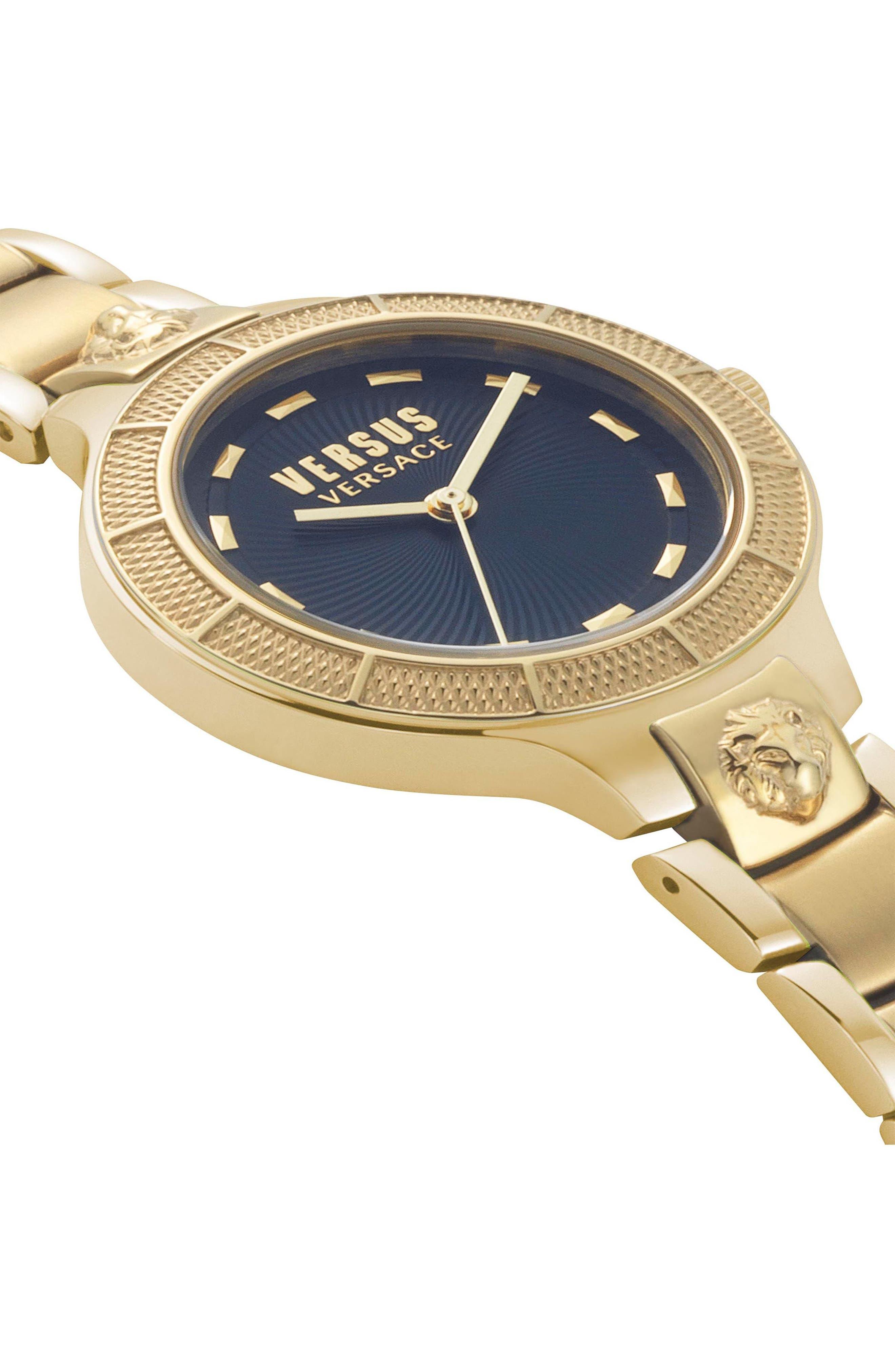 Claremont Bracelet Watch, 32mm,                             Alternate thumbnail 3, color,                             GOLD/ BLUE/ GOLD