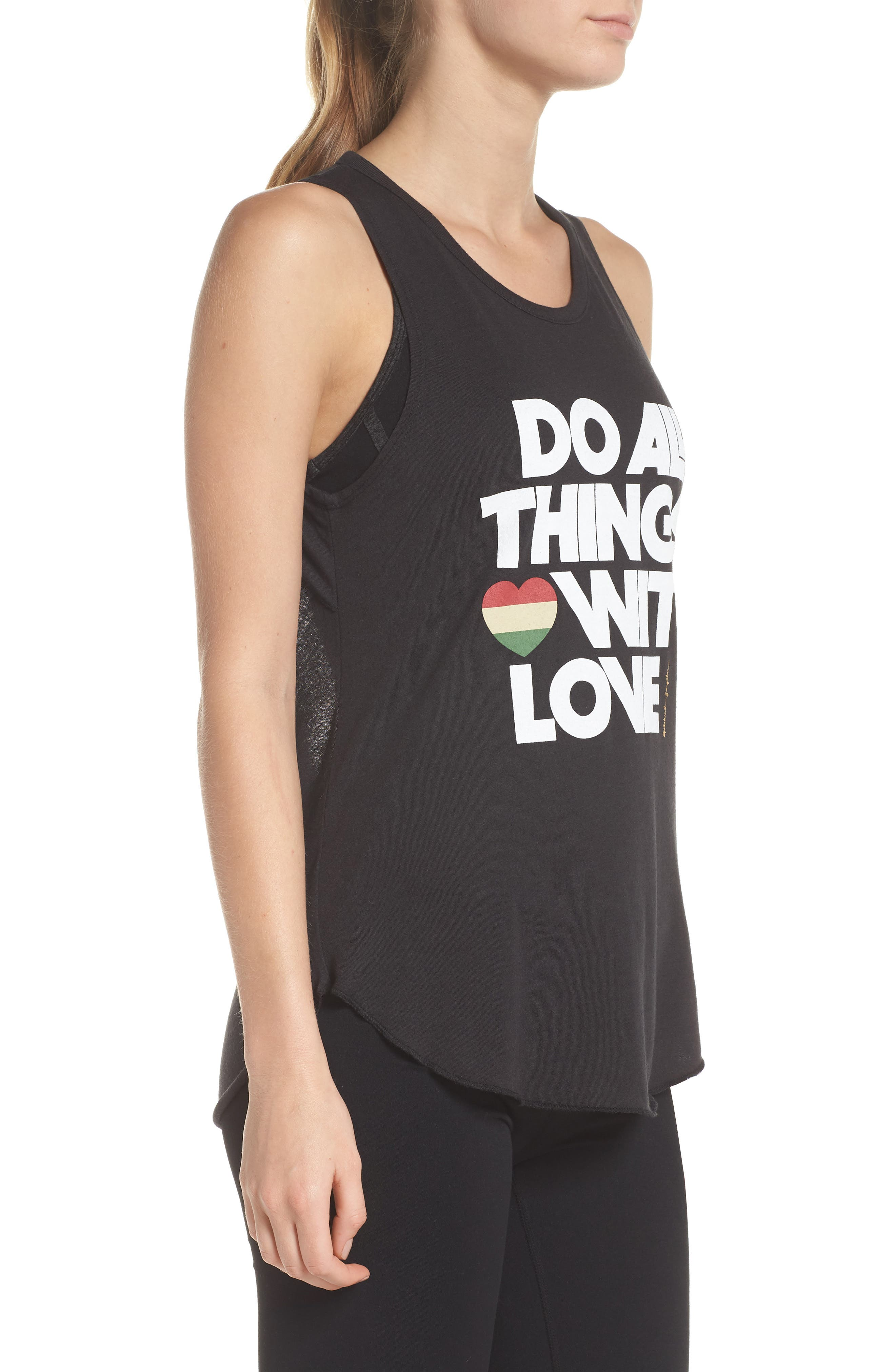 Do All Things with Love Open Back Tank,                             Alternate thumbnail 3, color,                             VINTAGE BLACK