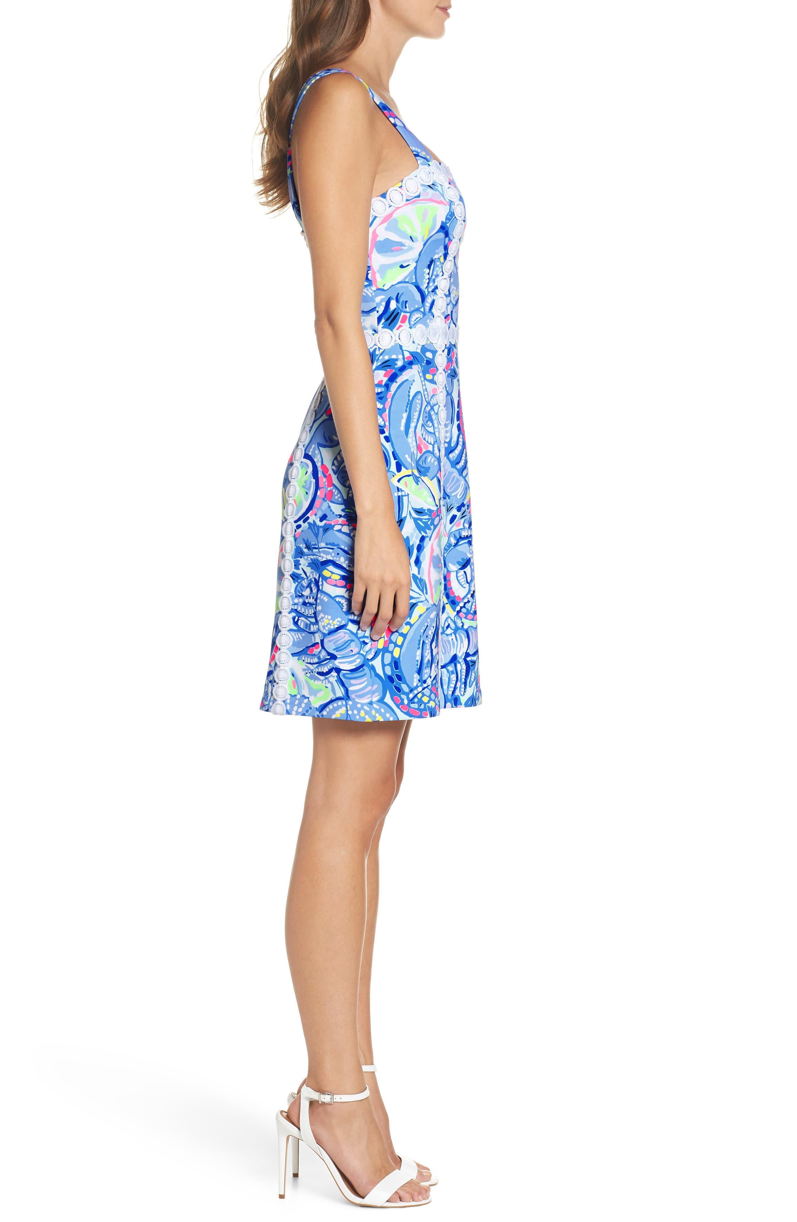 Janelle Stretch Sheath Dress,                             Alternate thumbnail 3, color,                             469
