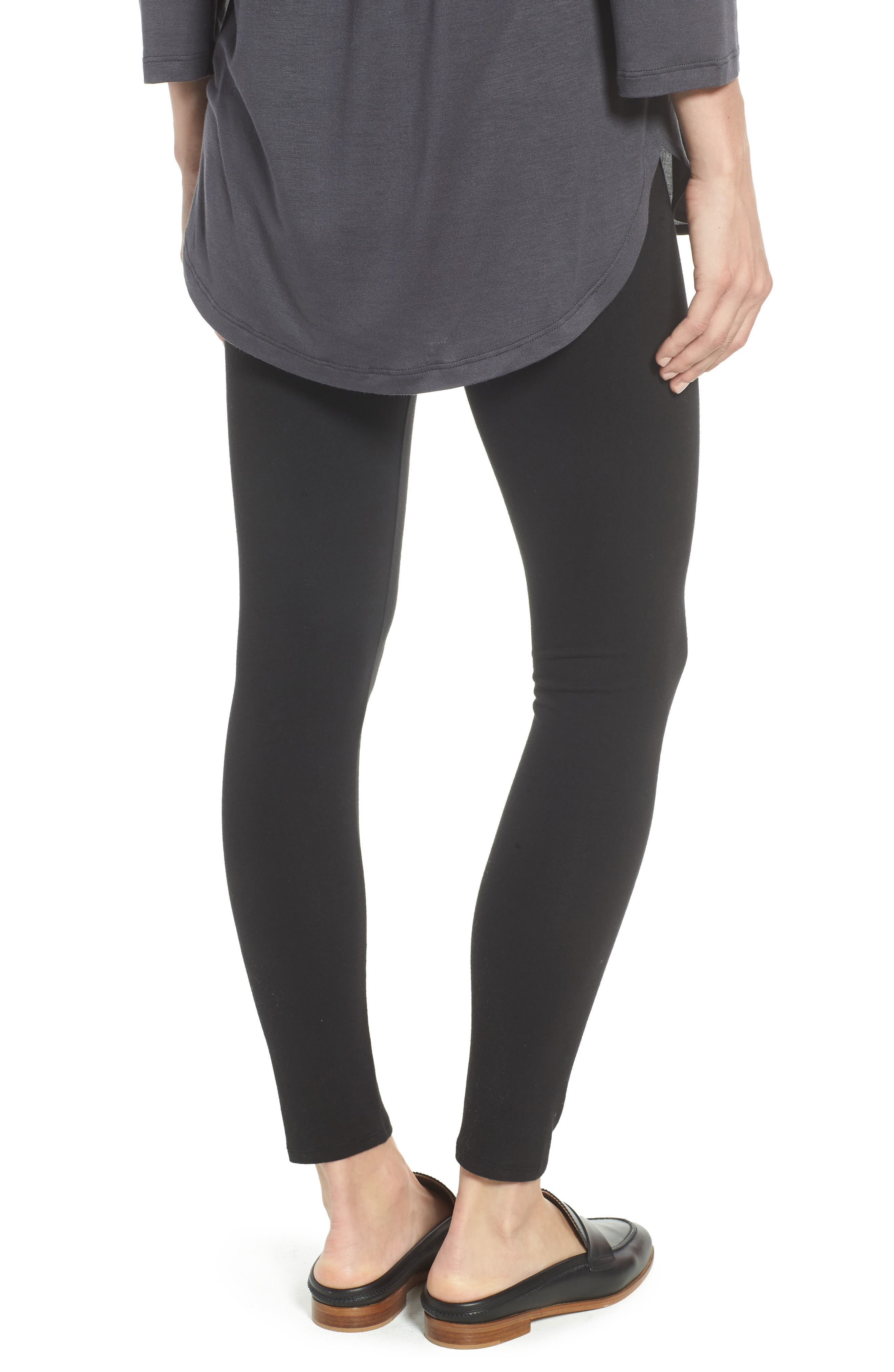 Go-To High Waist Leggings,                             Alternate thumbnail 2, color,                             BLACK