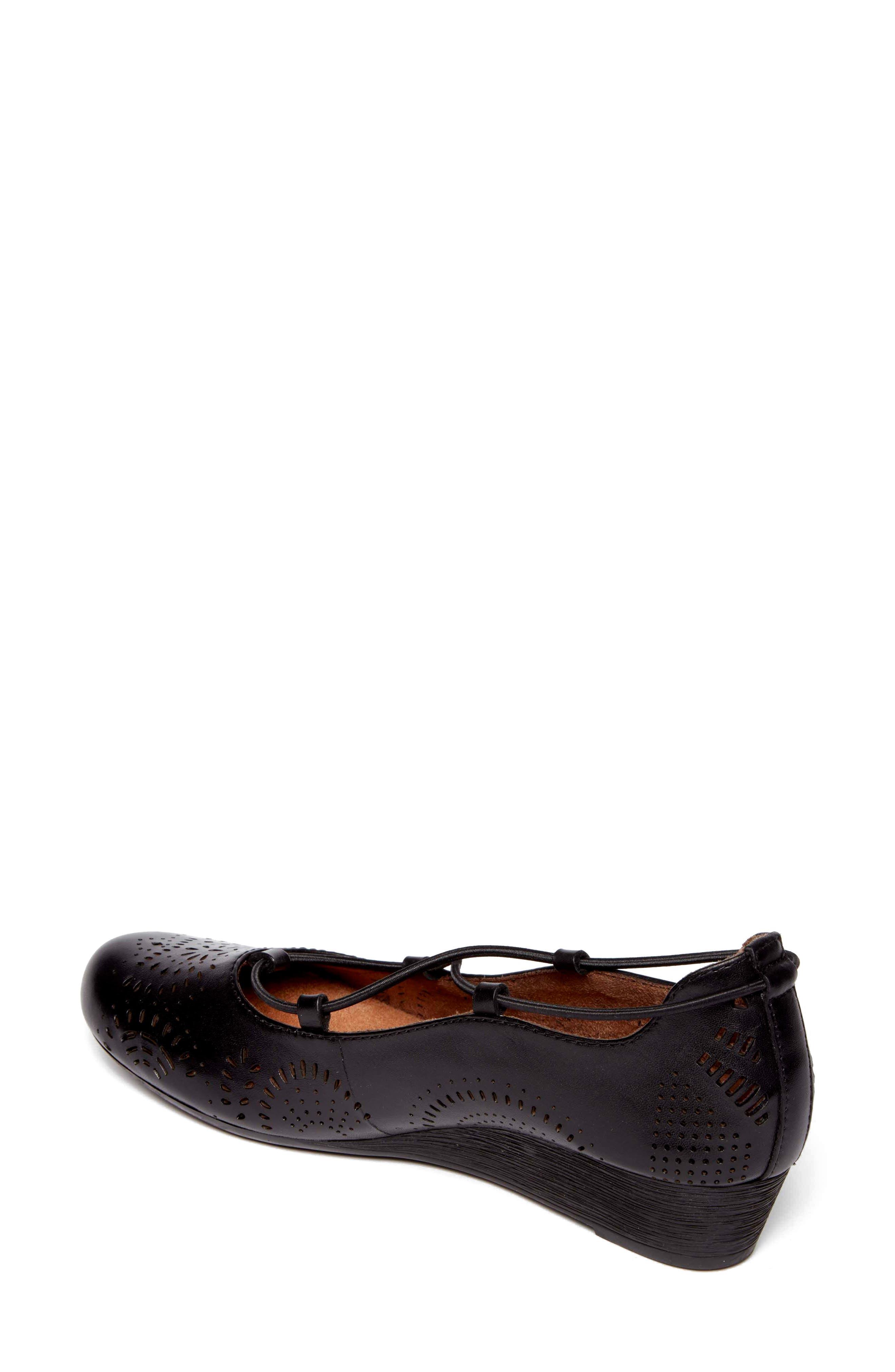 Janna Cross Strap Wedge Sandal,                             Alternate thumbnail 7, color,