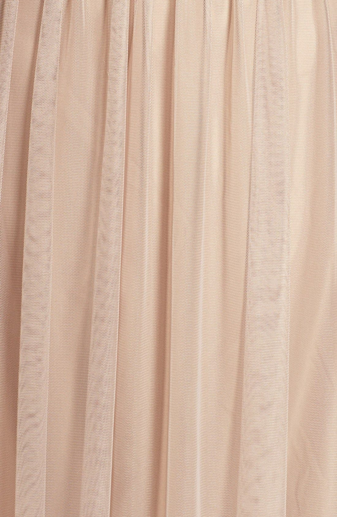 'Alyce' Illusion V-Neck Pleat Tulle Gown,                             Alternate thumbnail 15, color,