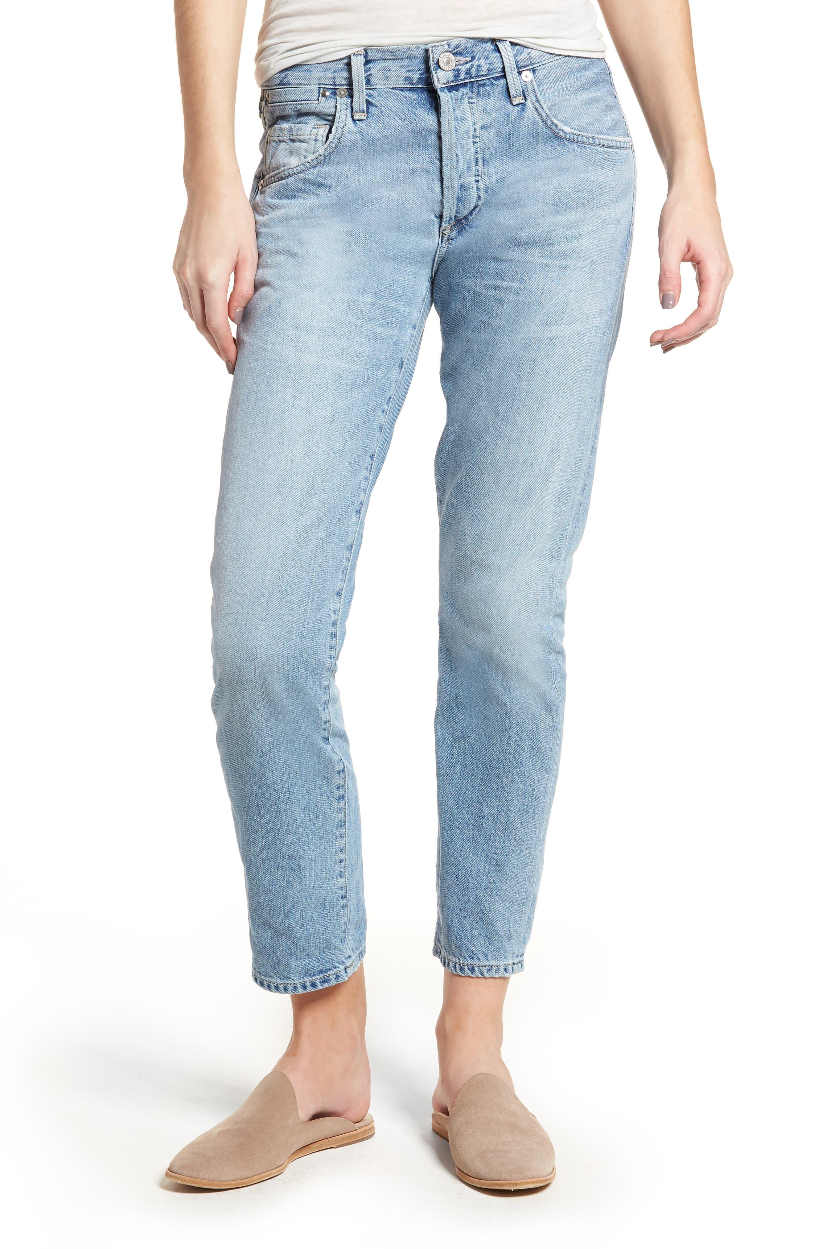 Emerson Slim Fit Boyfriend Jeans,                         Main,                         color, SUNDAY MORNING