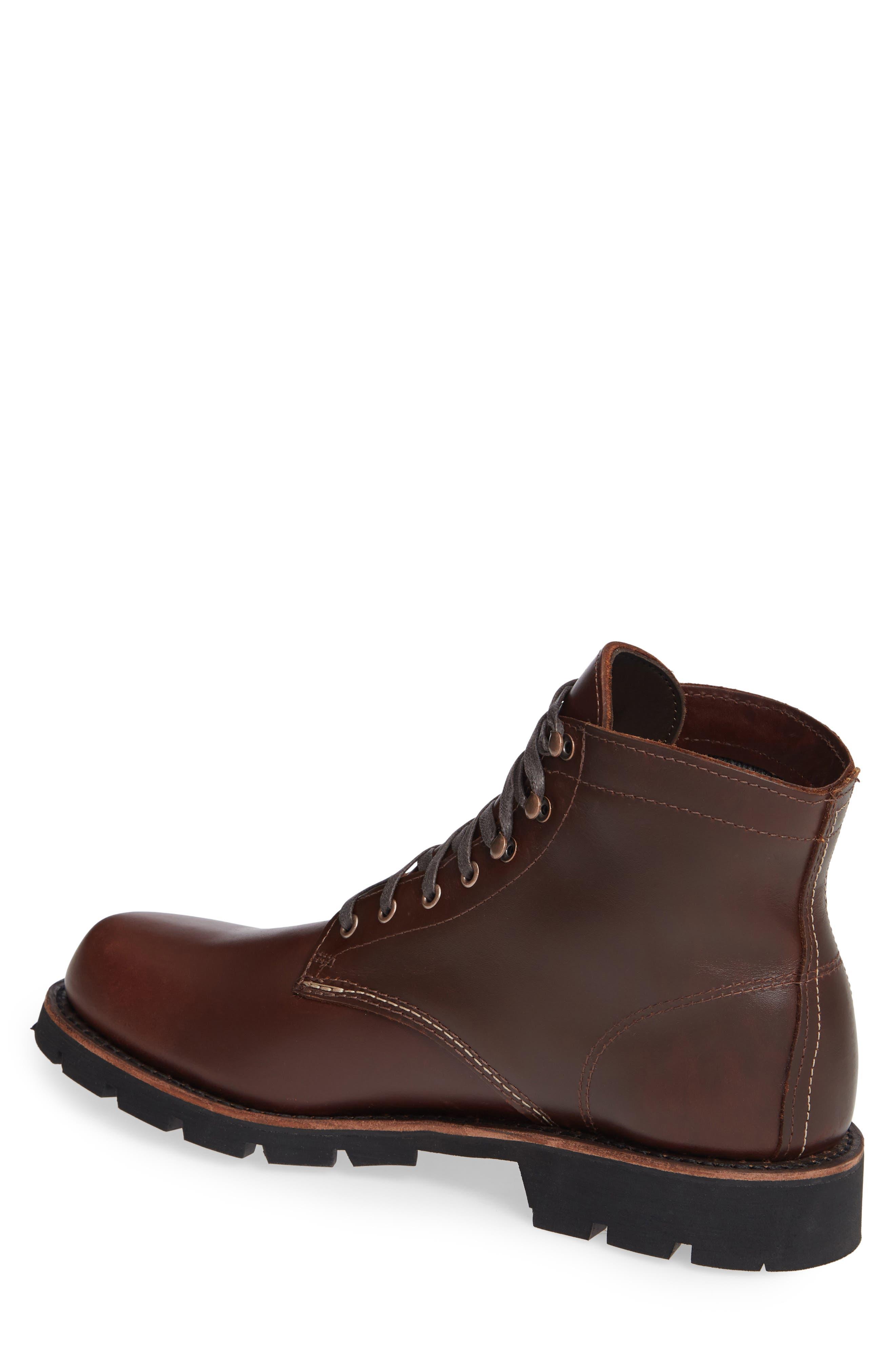 1,000-Mile Arctic Waterproof Plain Toe Boot,                             Alternate thumbnail 2, color,                             BROWN