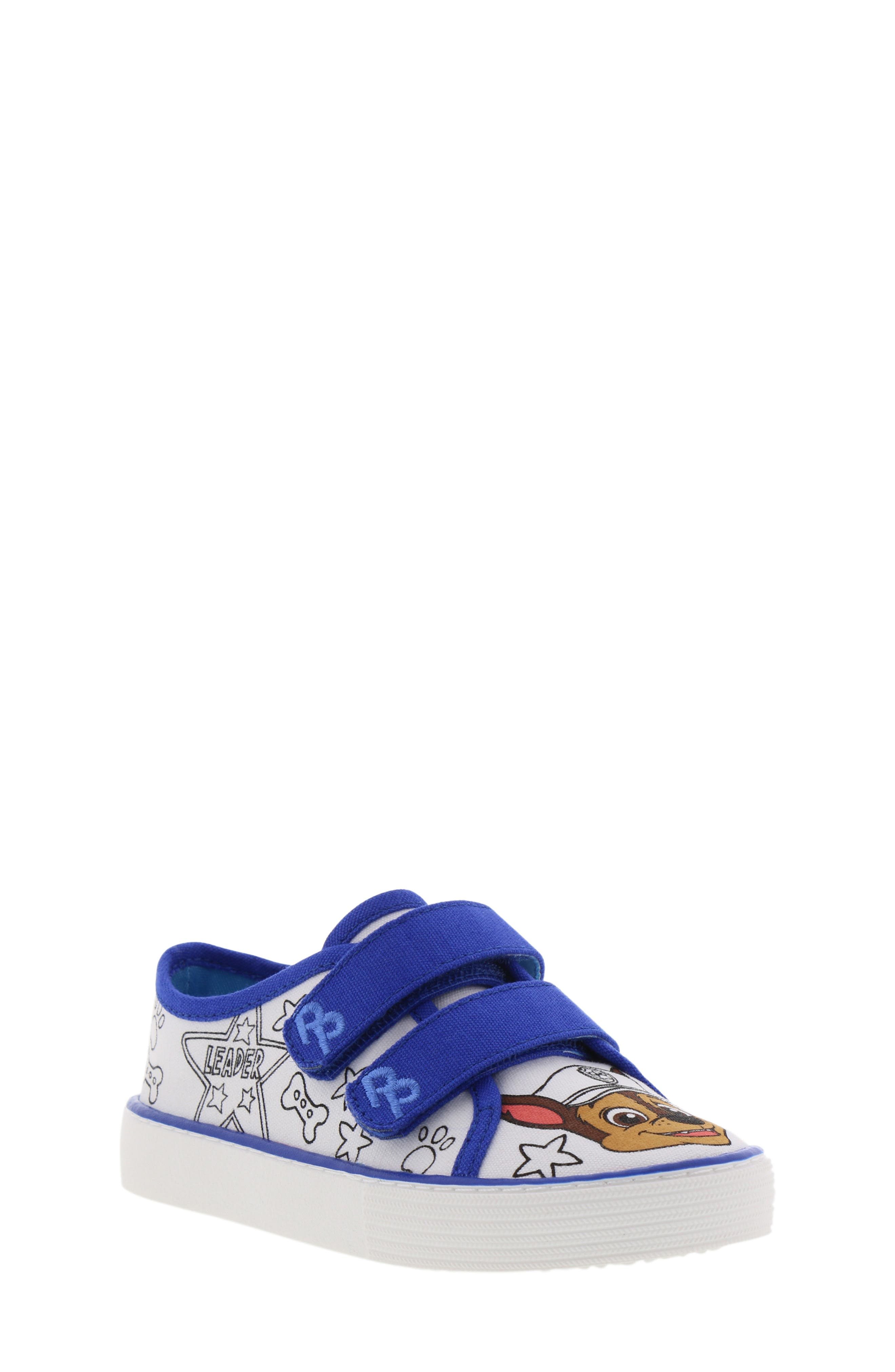 Chase Color DIY Sneaker,                             Main thumbnail 1, color,                             WHITE CHASE BLUE