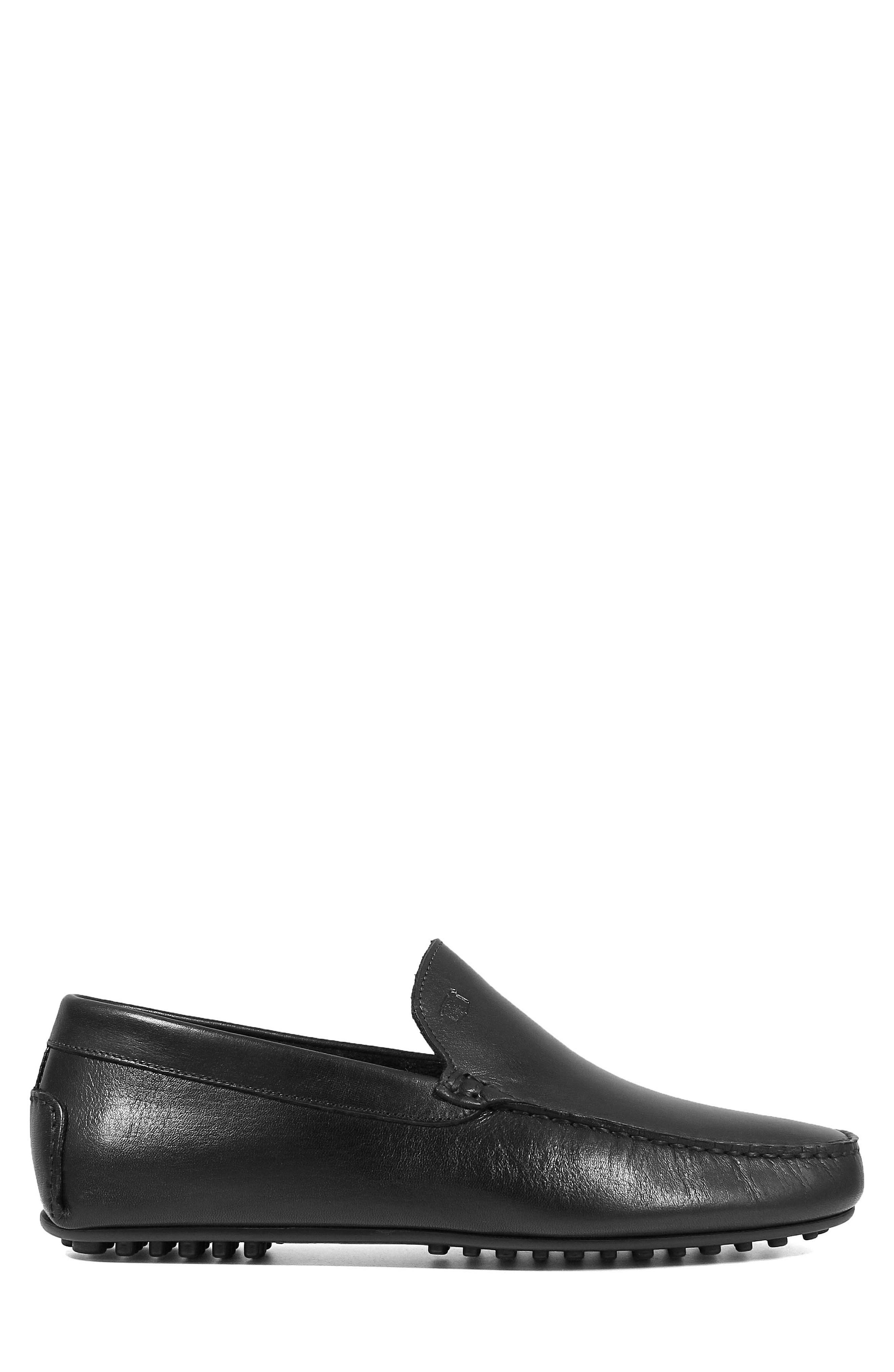 Navono Driving Moccasin,                             Alternate thumbnail 3, color,                             BLACK LEATHER