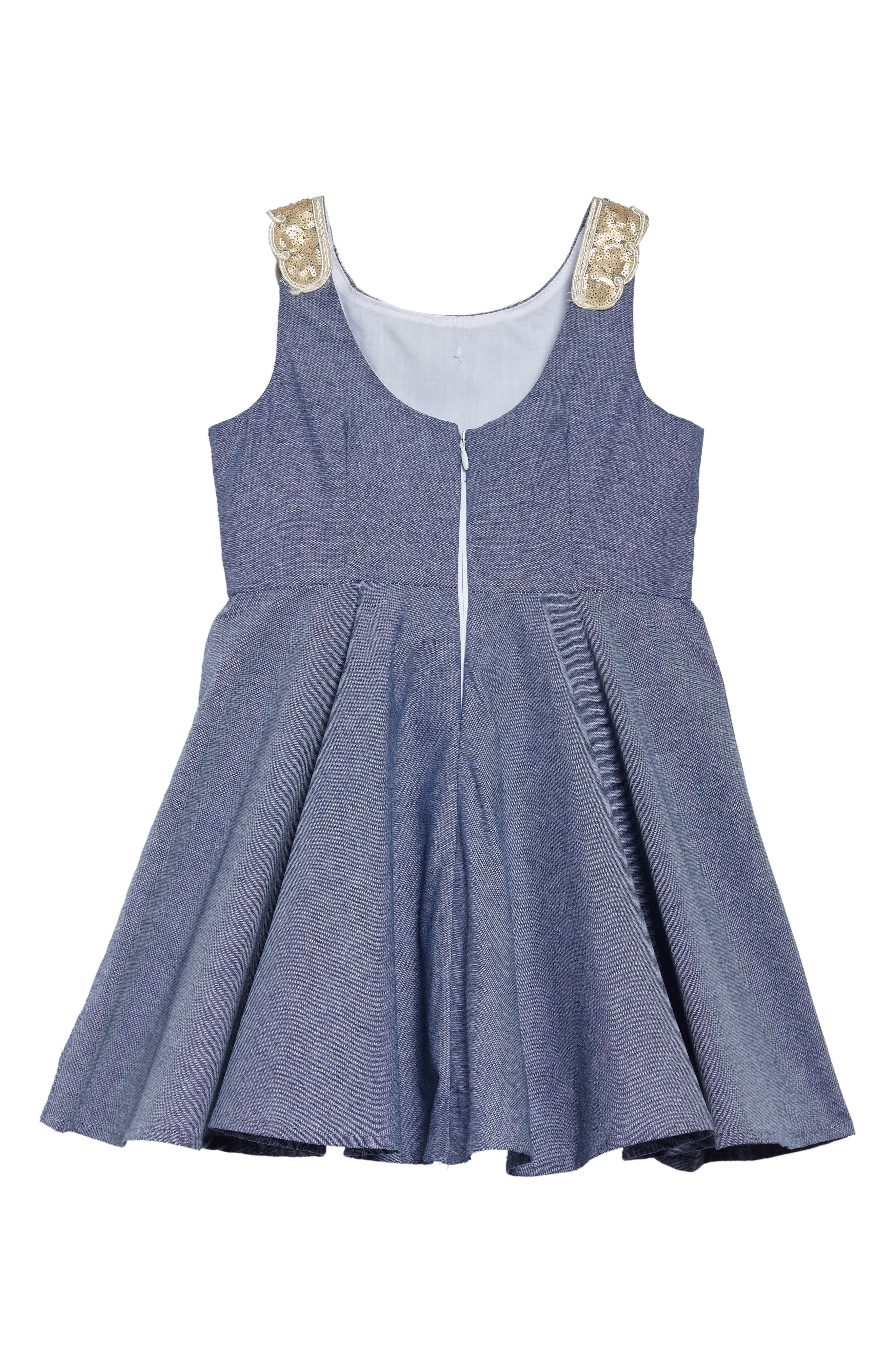 Darcy Chambray Dress,                             Alternate thumbnail 2, color,                             400