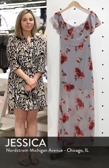 Off the Shoulder Maxi Dress, sales video thumbnail