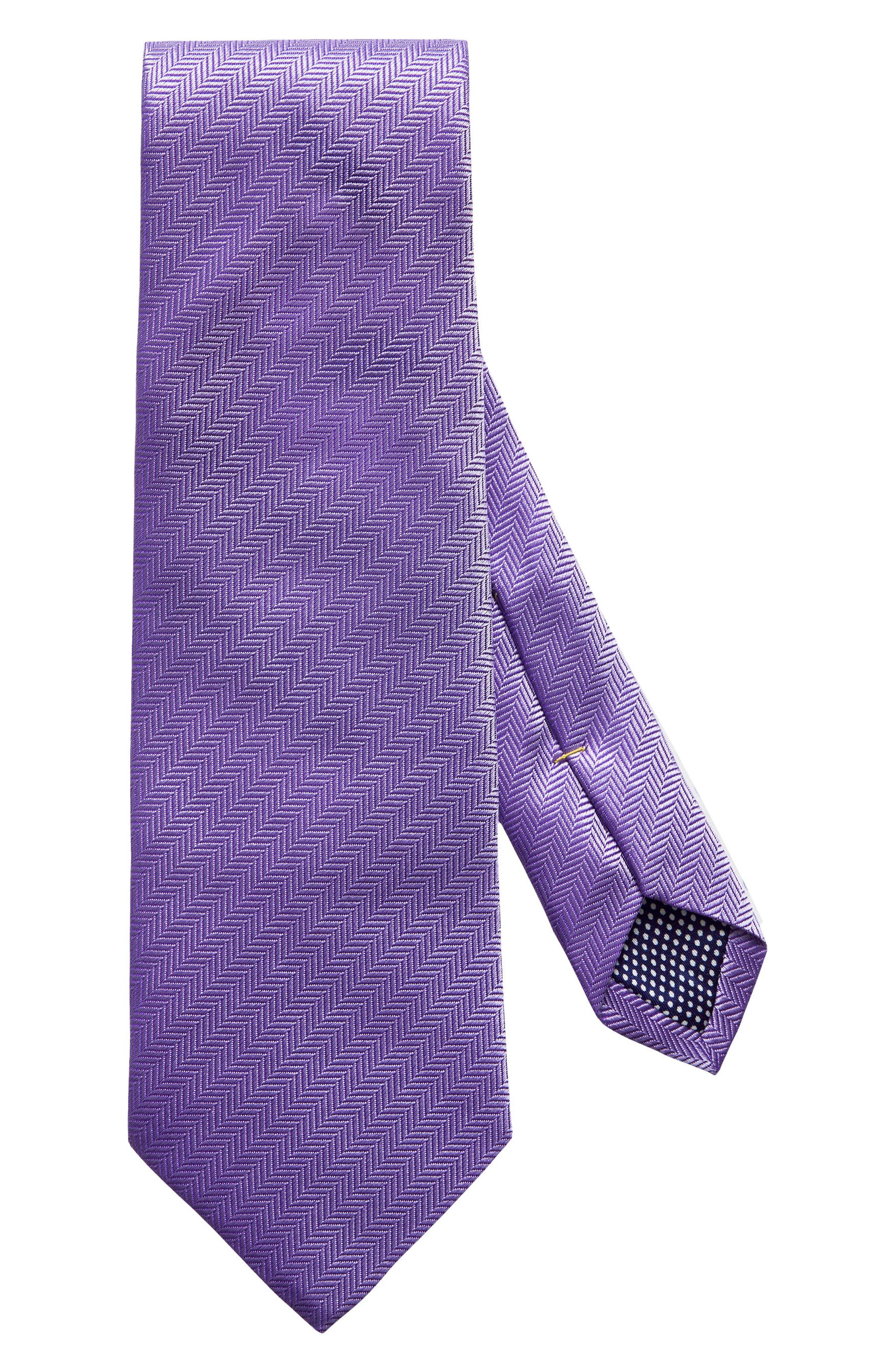 Herringbone Textured Silk Tie,                             Alternate thumbnail 4, color,                             LAVENDER