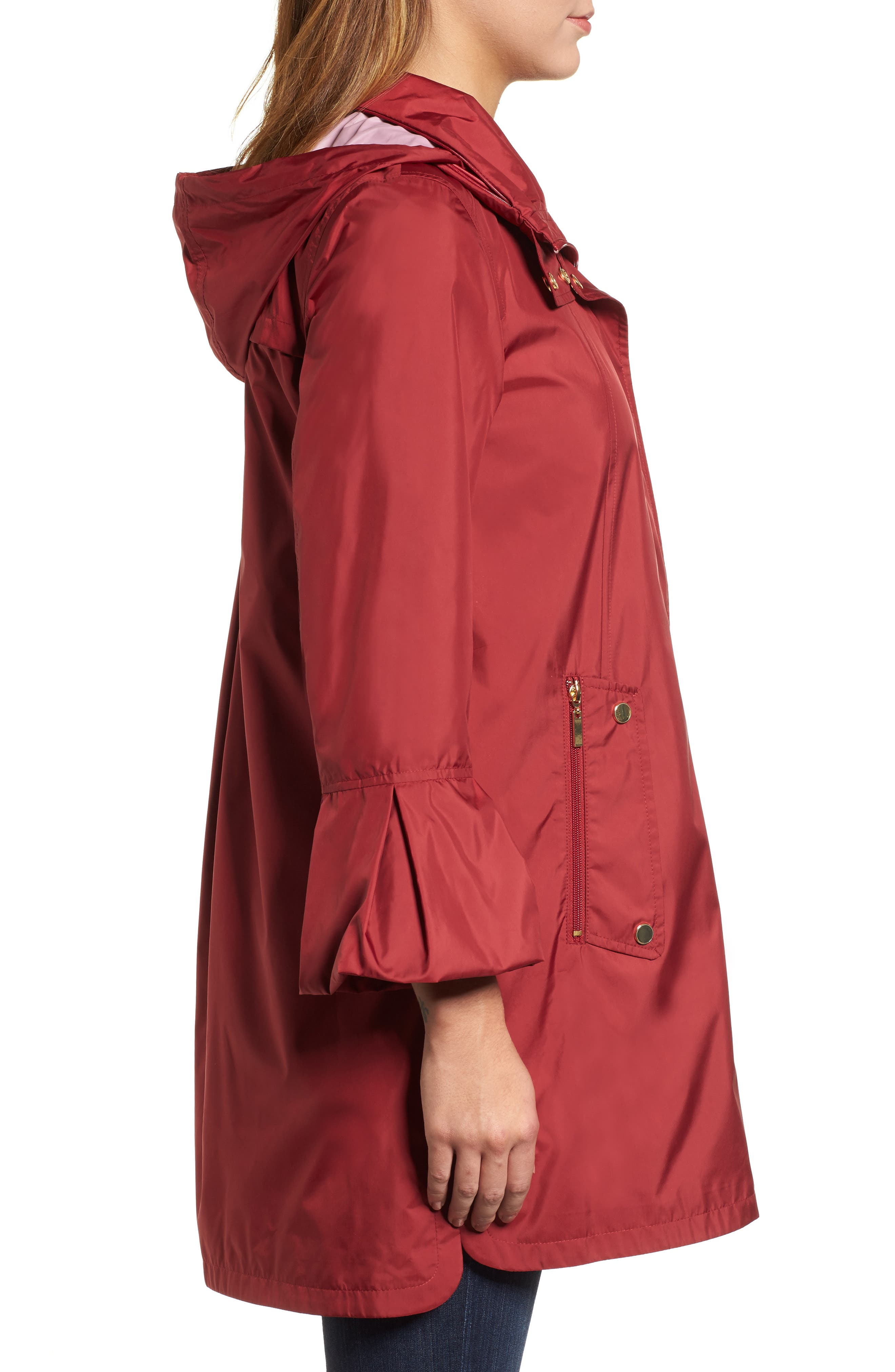 Flare Sleeve Packable Swing Jacket,                             Alternate thumbnail 6, color,
