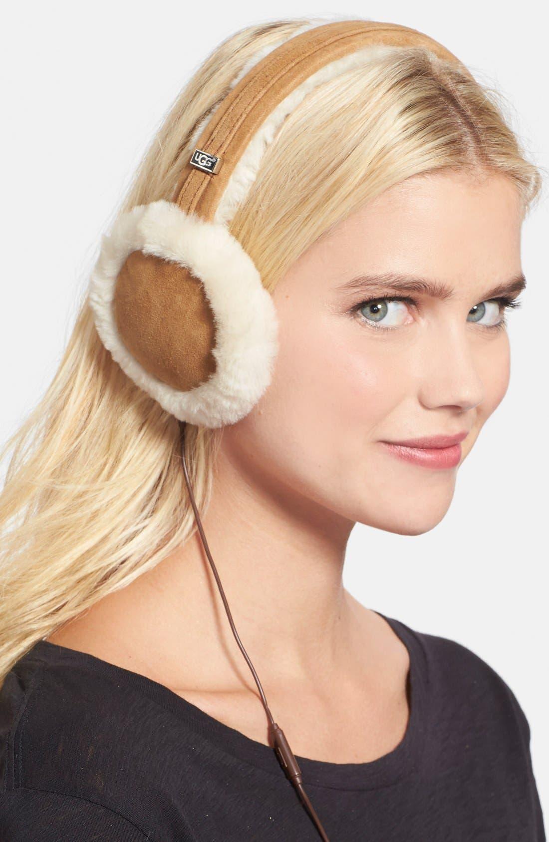 Australia 'Classic' Genuine Shearling Headphone Earmuffs,                         Main,                         color, 250