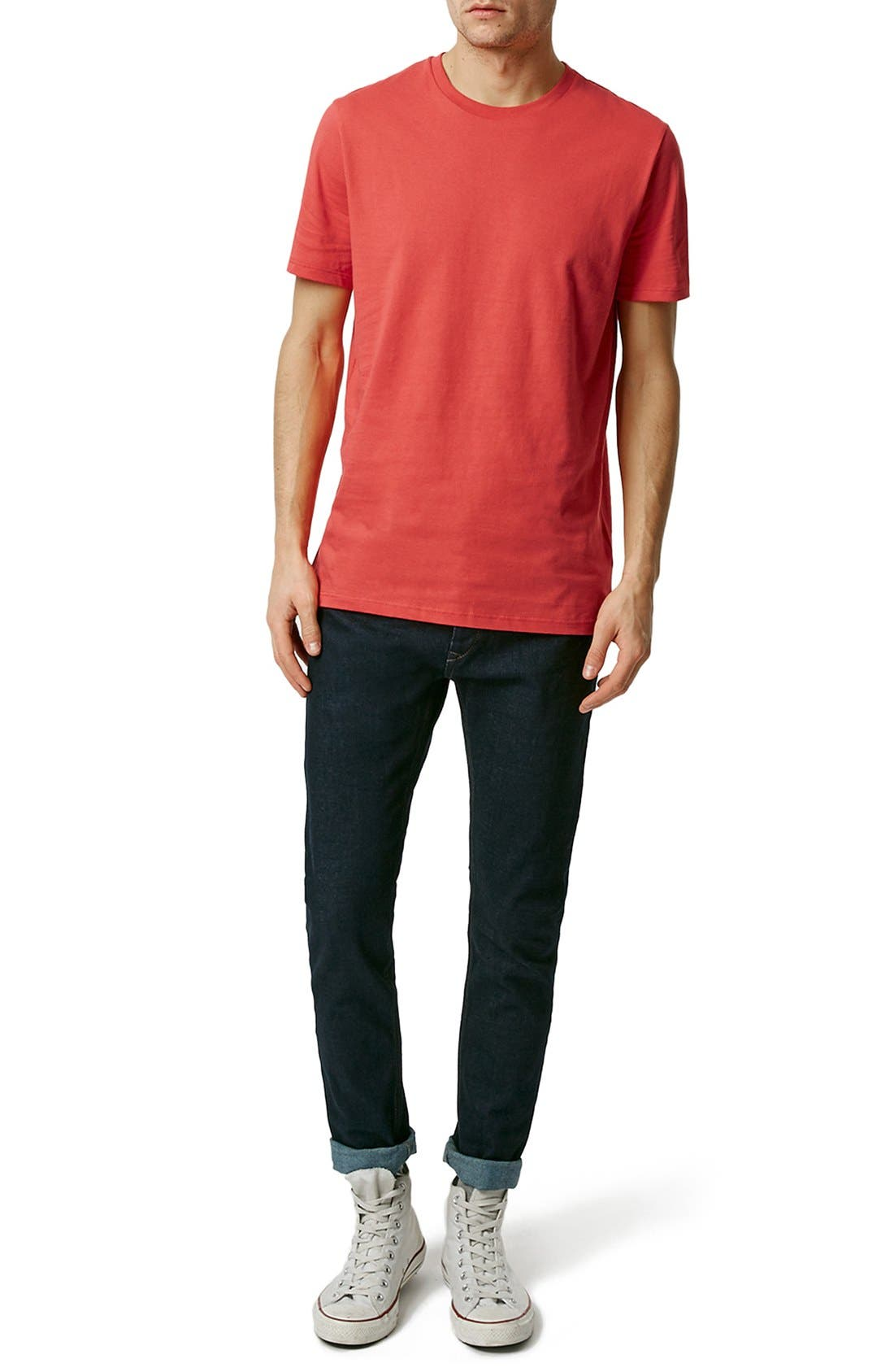 Slim Fit Crewneck T-Shirt,                             Alternate thumbnail 275, color,