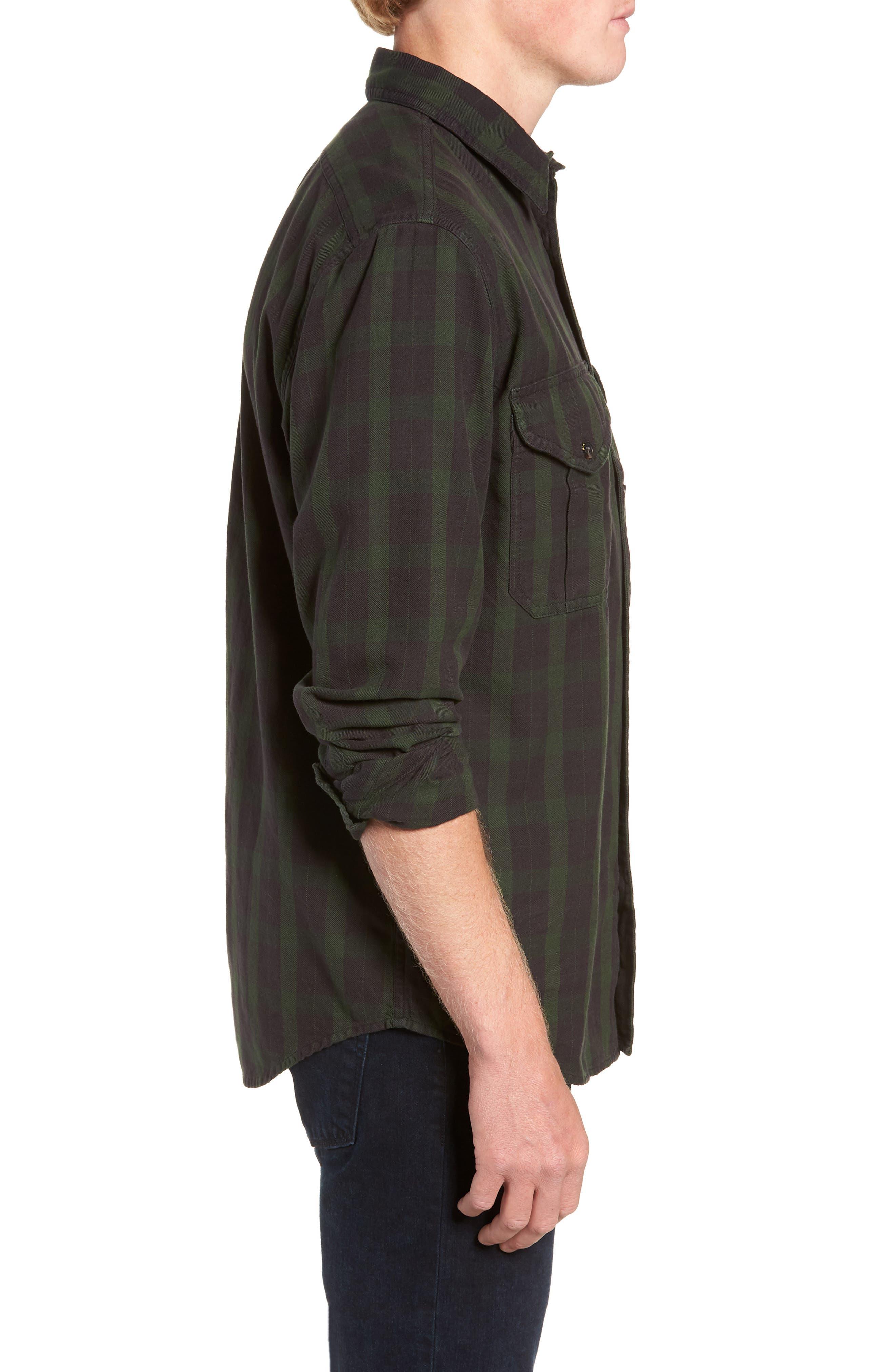 Alaskan Guide Regular Fit Twill Shirt,                             Alternate thumbnail 4, color,                             005