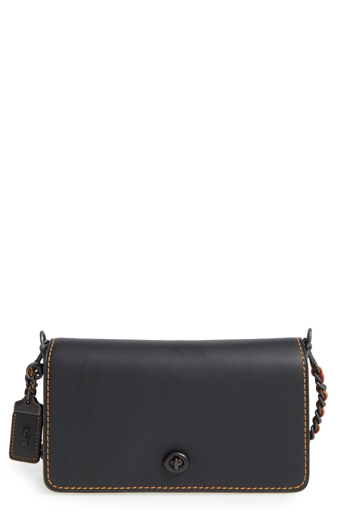 'Dinky' Leather Crossbody Bag,                             Main thumbnail 1, color,