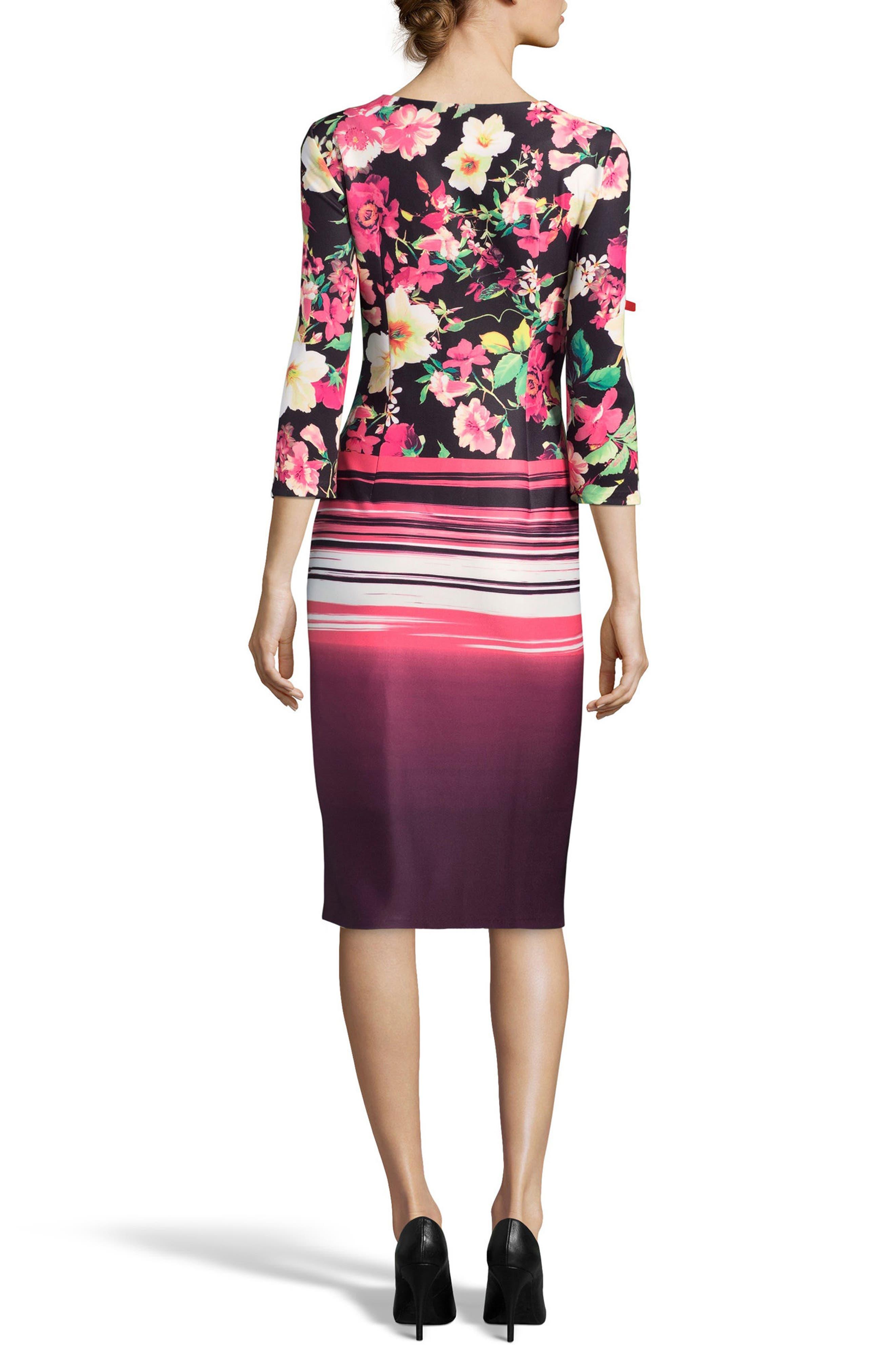 Print Sheath Dress,                             Alternate thumbnail 2, color,