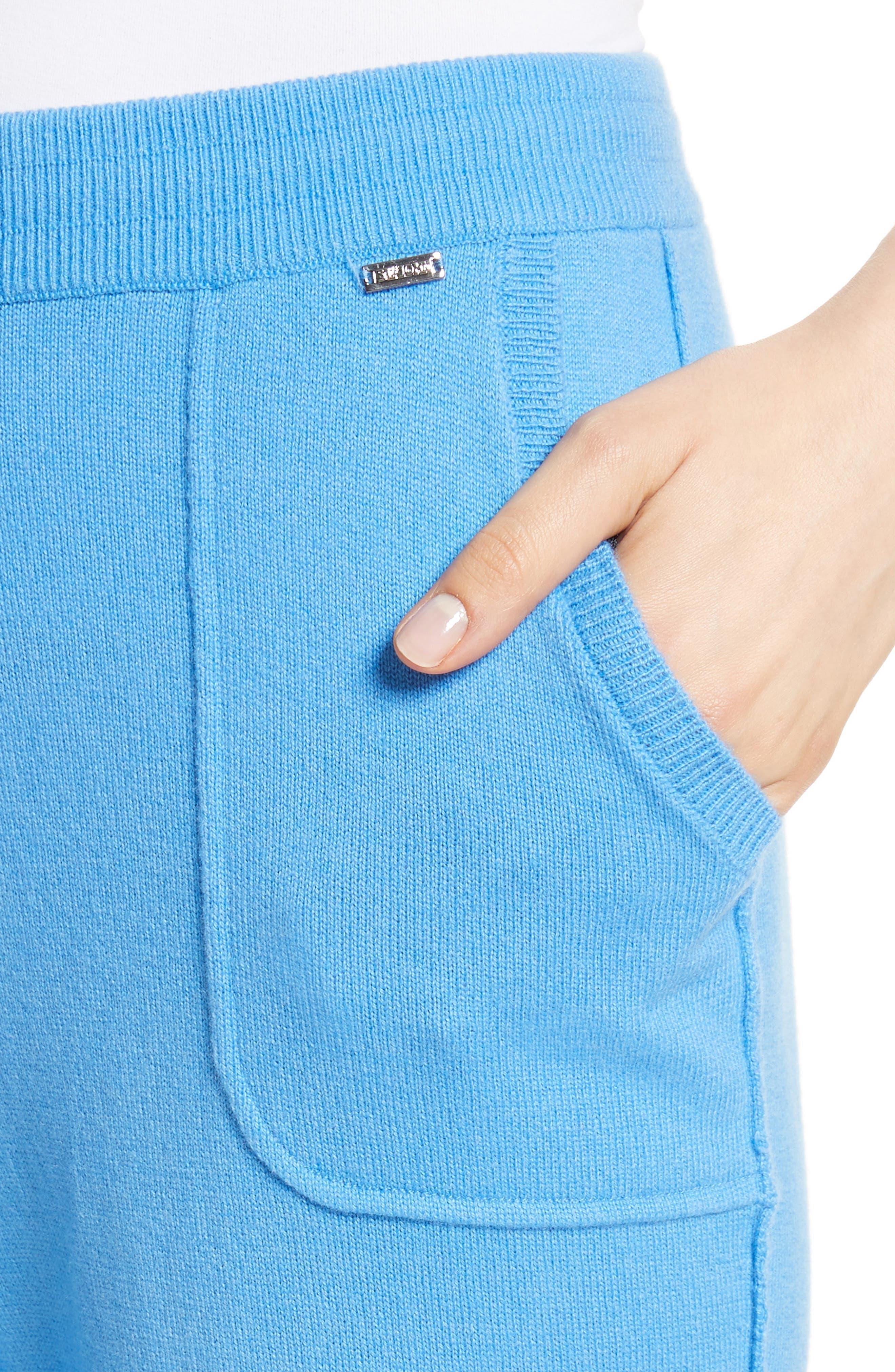 Cashmere Jersey Pants,                             Alternate thumbnail 4, color,                             420