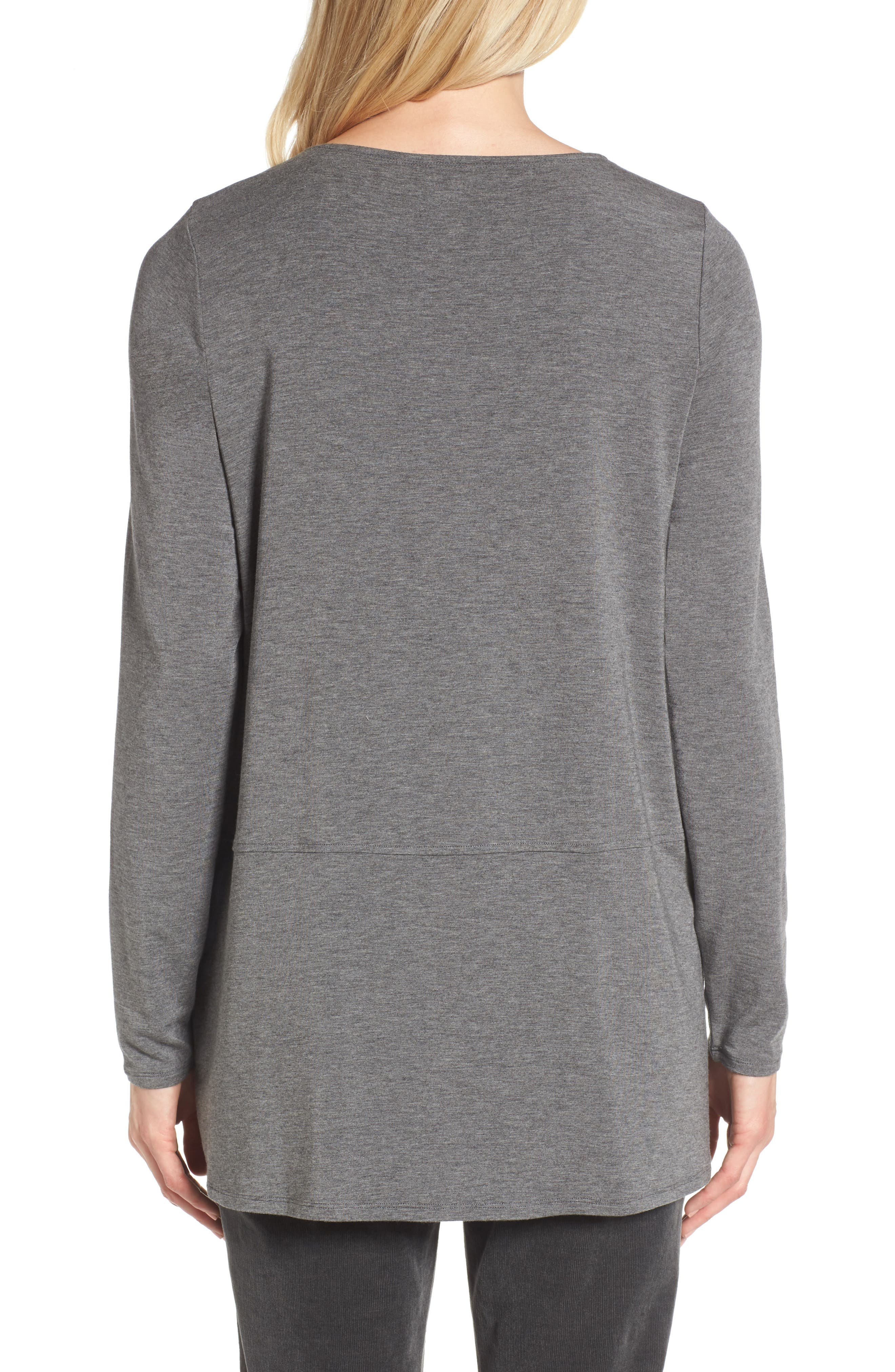 Stretch Tencel<sup>®</sup> Top,                             Alternate thumbnail 4, color,