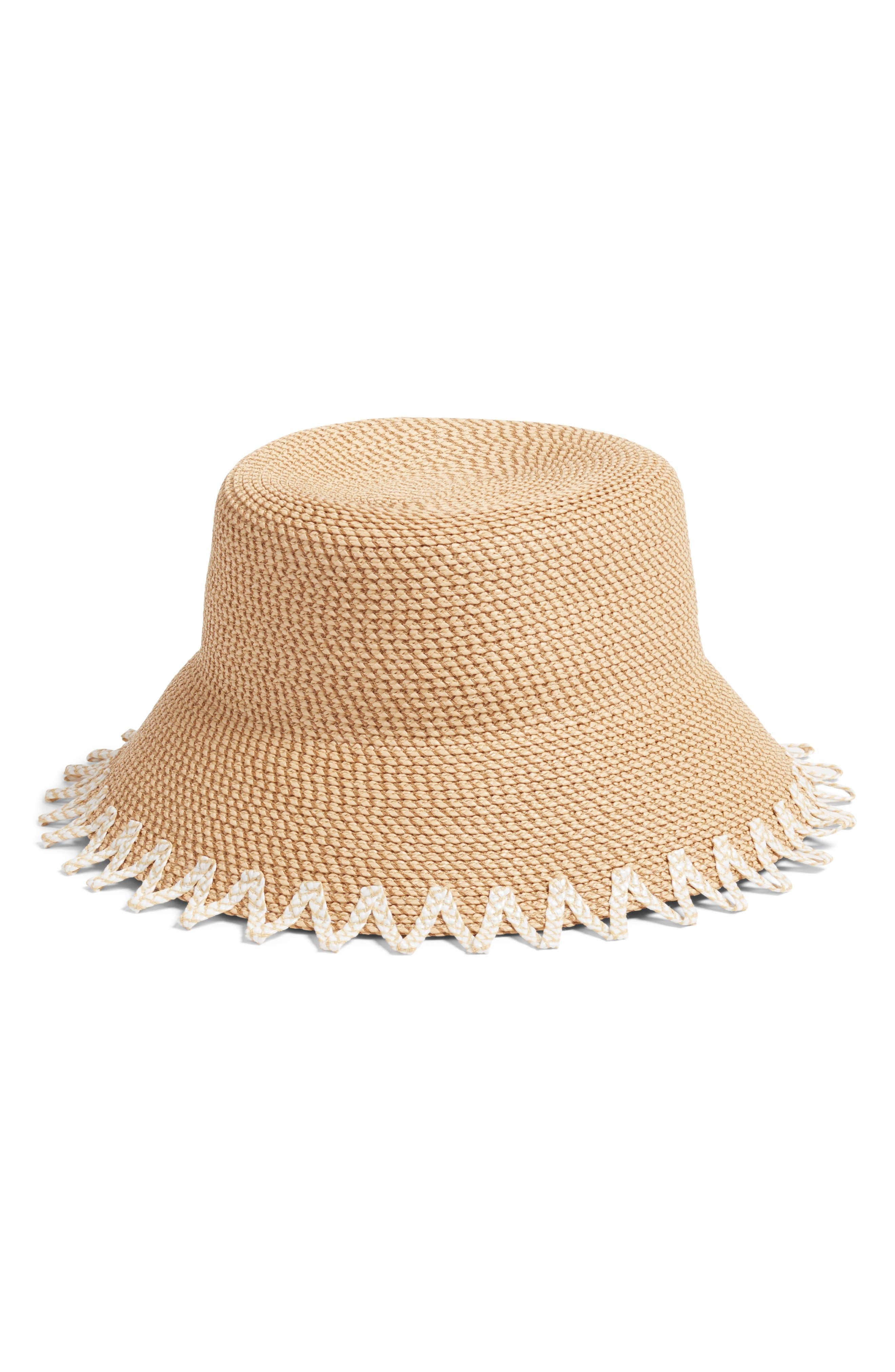Eric Javits Hats ELOISE SQUISHEE BUCKET HAT - BROWN