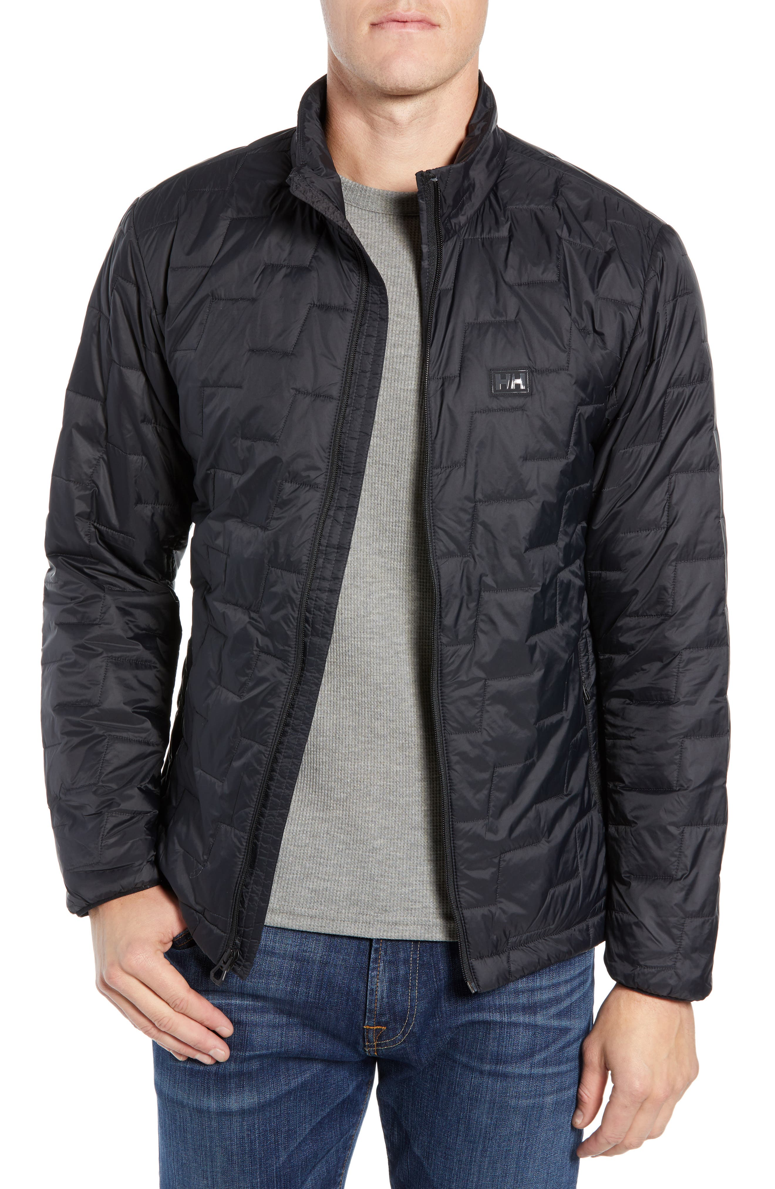 Lifaloft Insulator Jacket,                         Main,                         color, BLACK MATTE